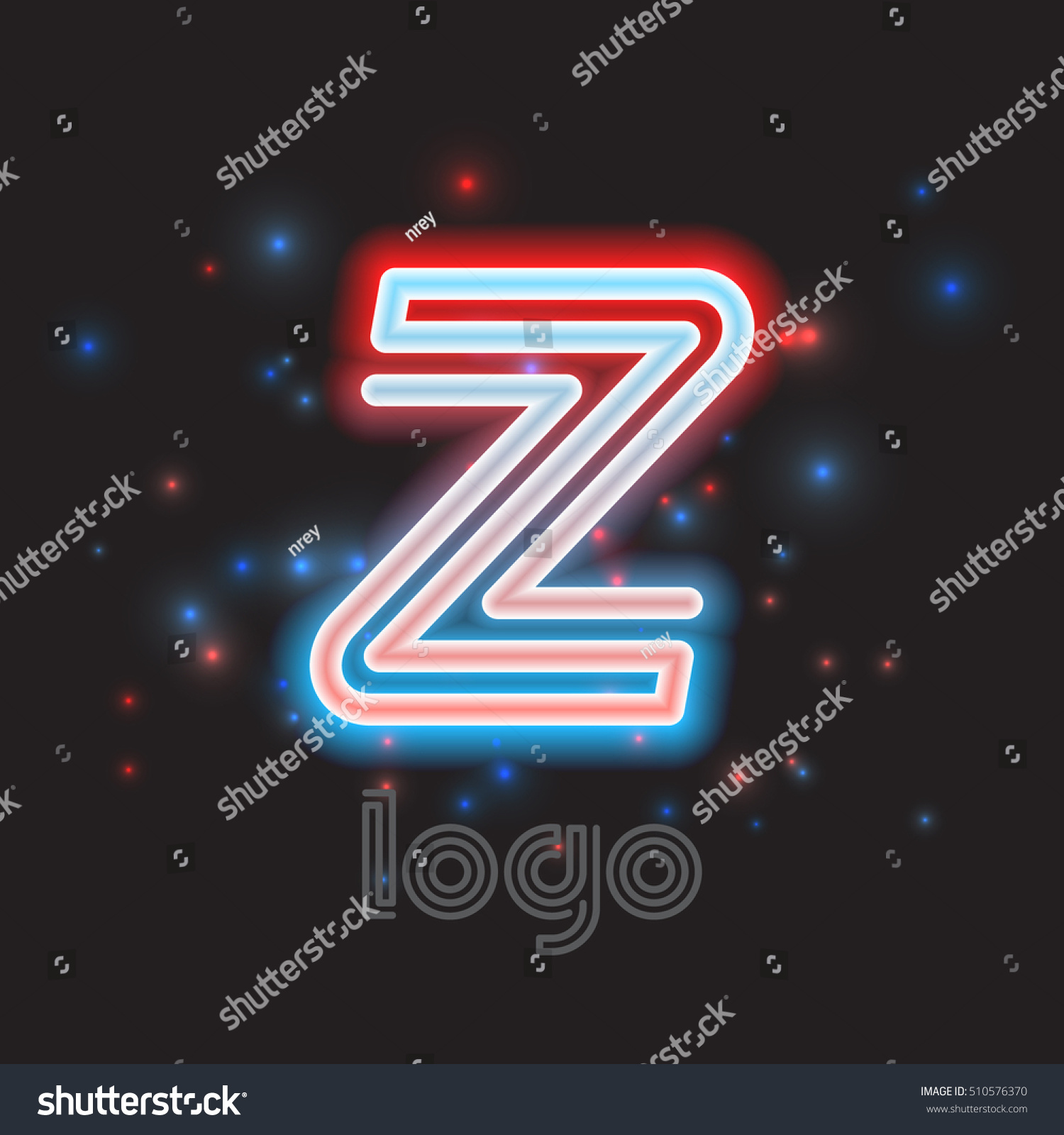 Neon Sign Color Dynamic Symbol For Logo Emblem Or Text Accent