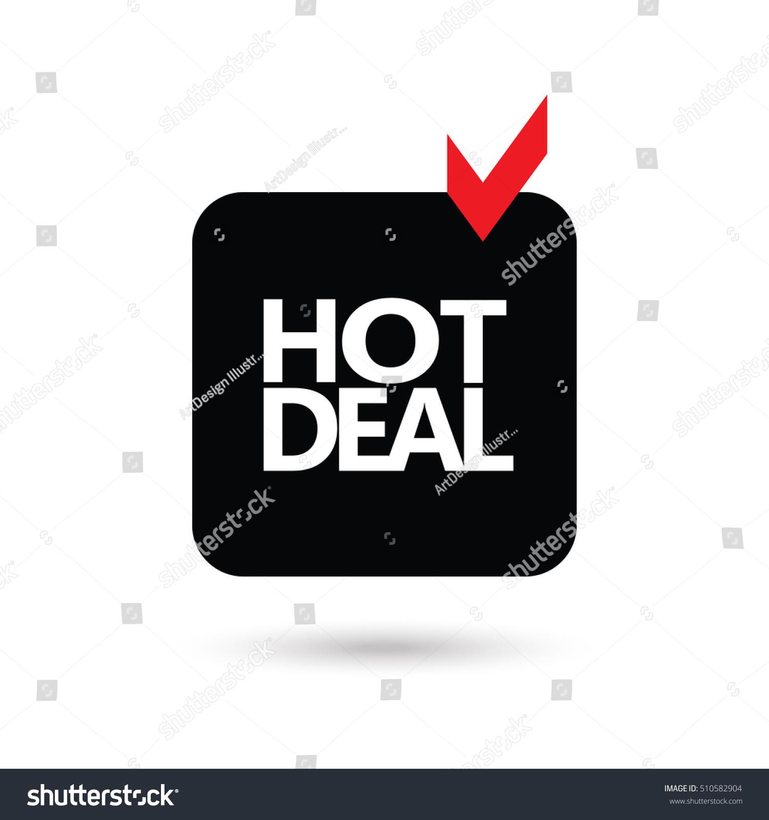 Black Friday Icon Hot Deals Hot Stock Vector Royalty Free 510582904