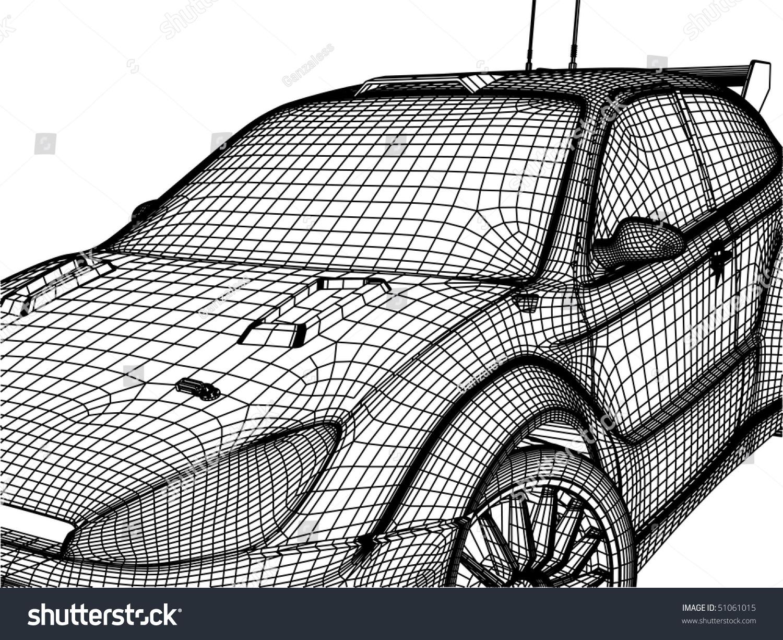 3d Car Stock Vector 51061015 - Shutterstock
