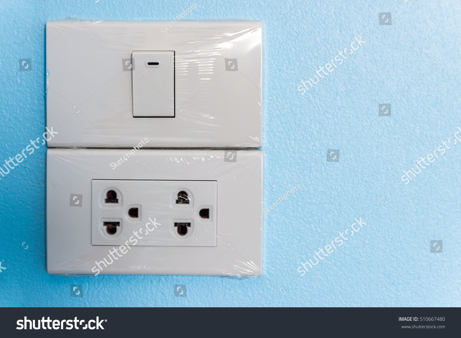 Industry Building Construction Home Electrical Switch Stock Photo ...