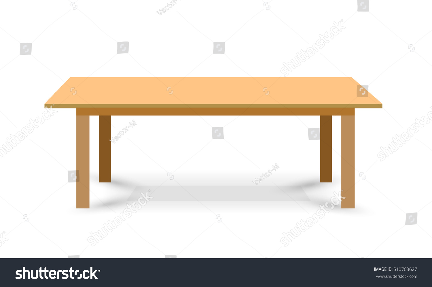 wooden table vector template object presentationvector