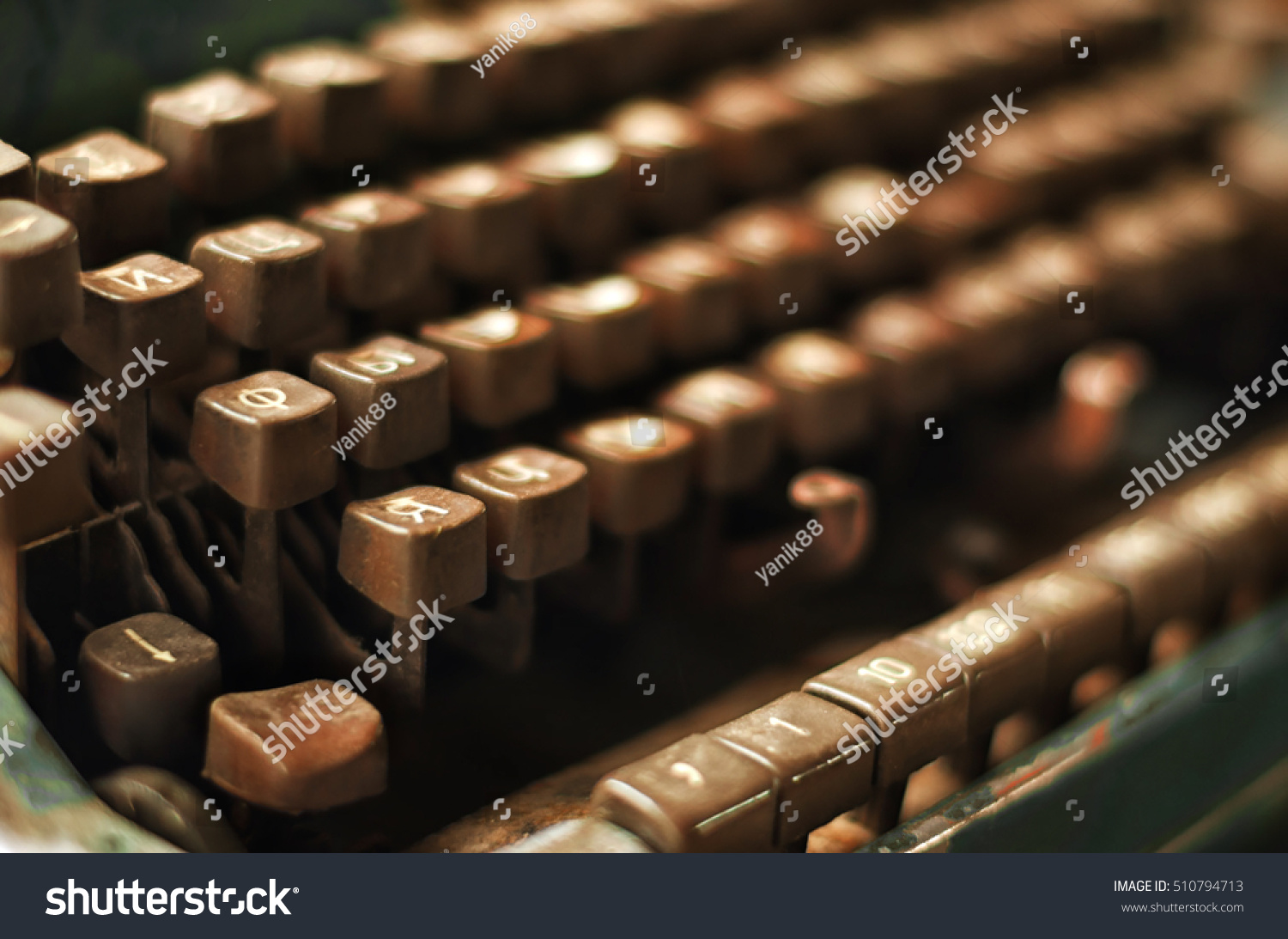 d8f2000f978 Old Russian Vintage Typewriter Button Stock Photo (Edit Now ...