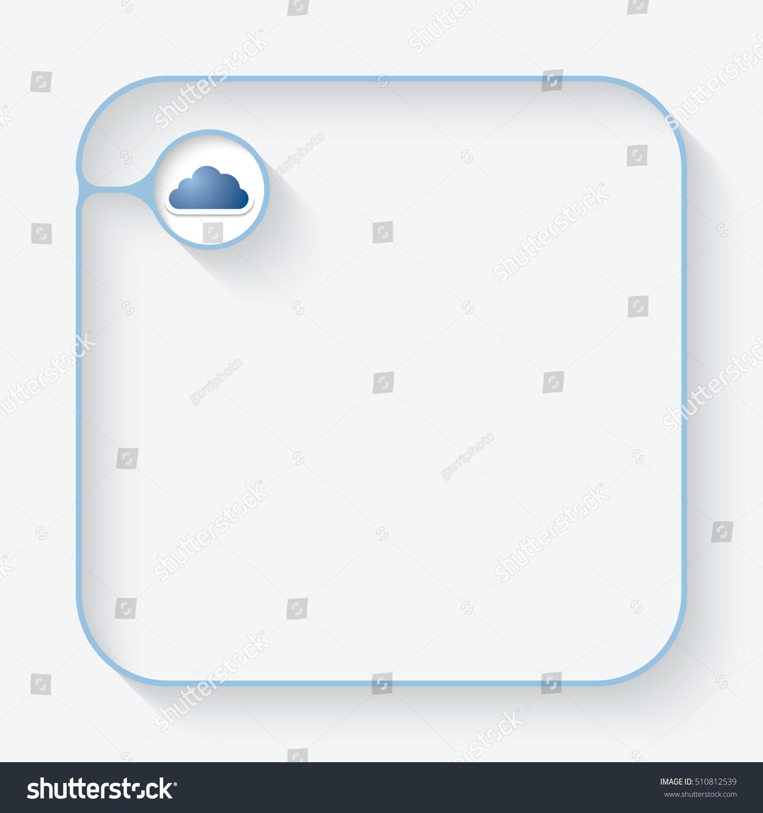Blue text box cloud symbol stock vector 510812539 shutterstock a blue text box with and cloud symbol biocorpaavc Gallery