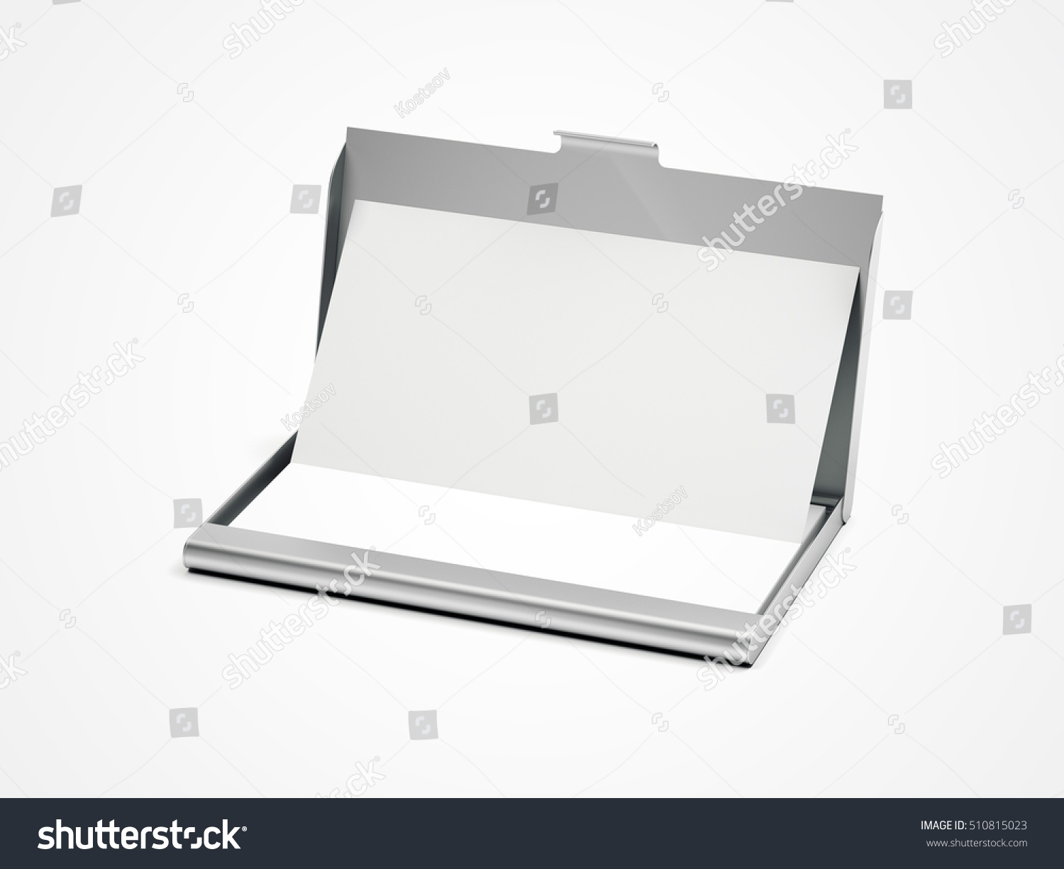 Metal Business Card Case On White Stock Illustration 510815023 ...