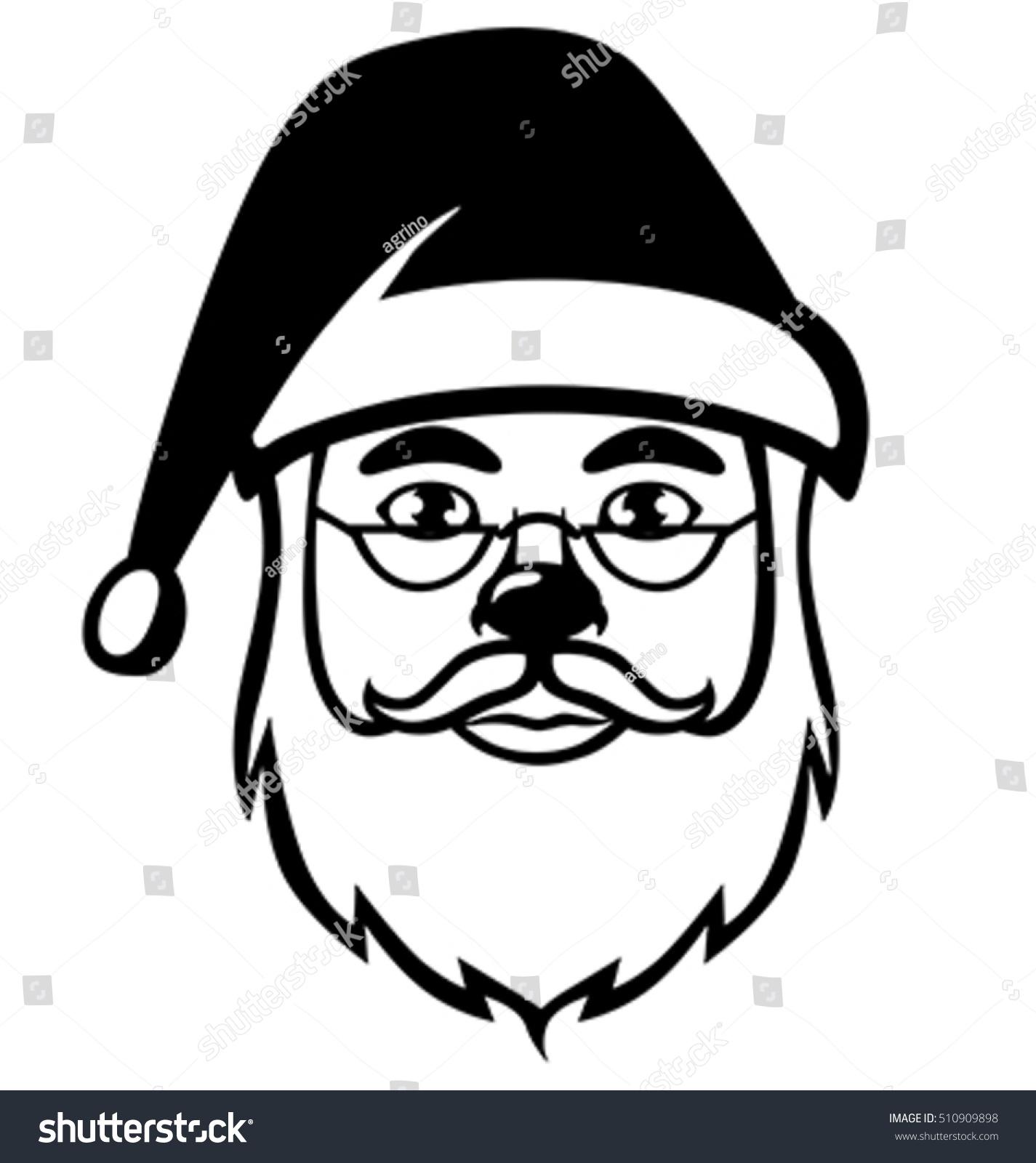Solid Black Face Of Santa Claus Ez Canvas