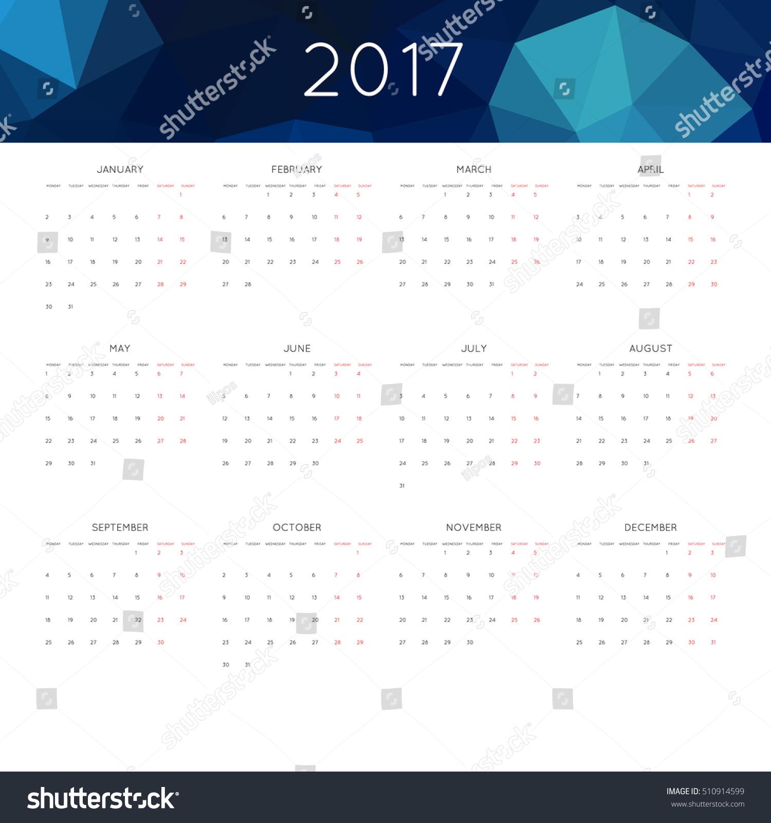 november calendar header