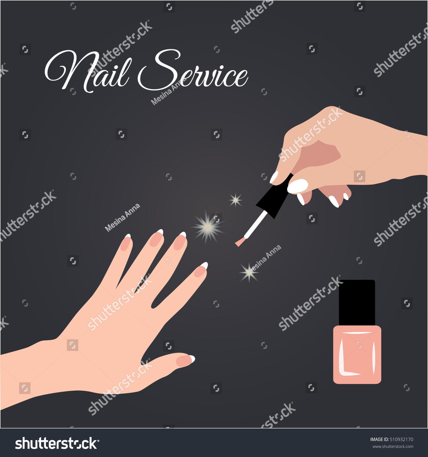 Nail Salon Manicure Pedicure Nail Design Stock Illustration ...