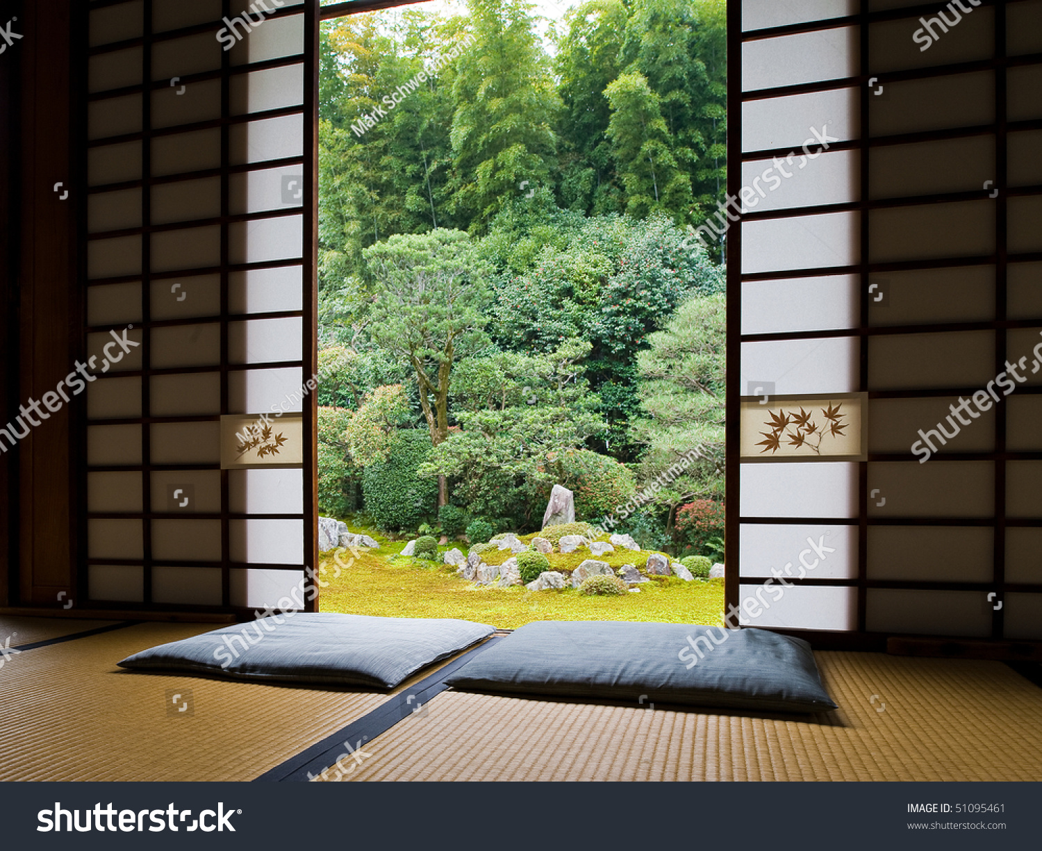 Interior spaces blends seamlessly view famous stock photo for Interior zen garden