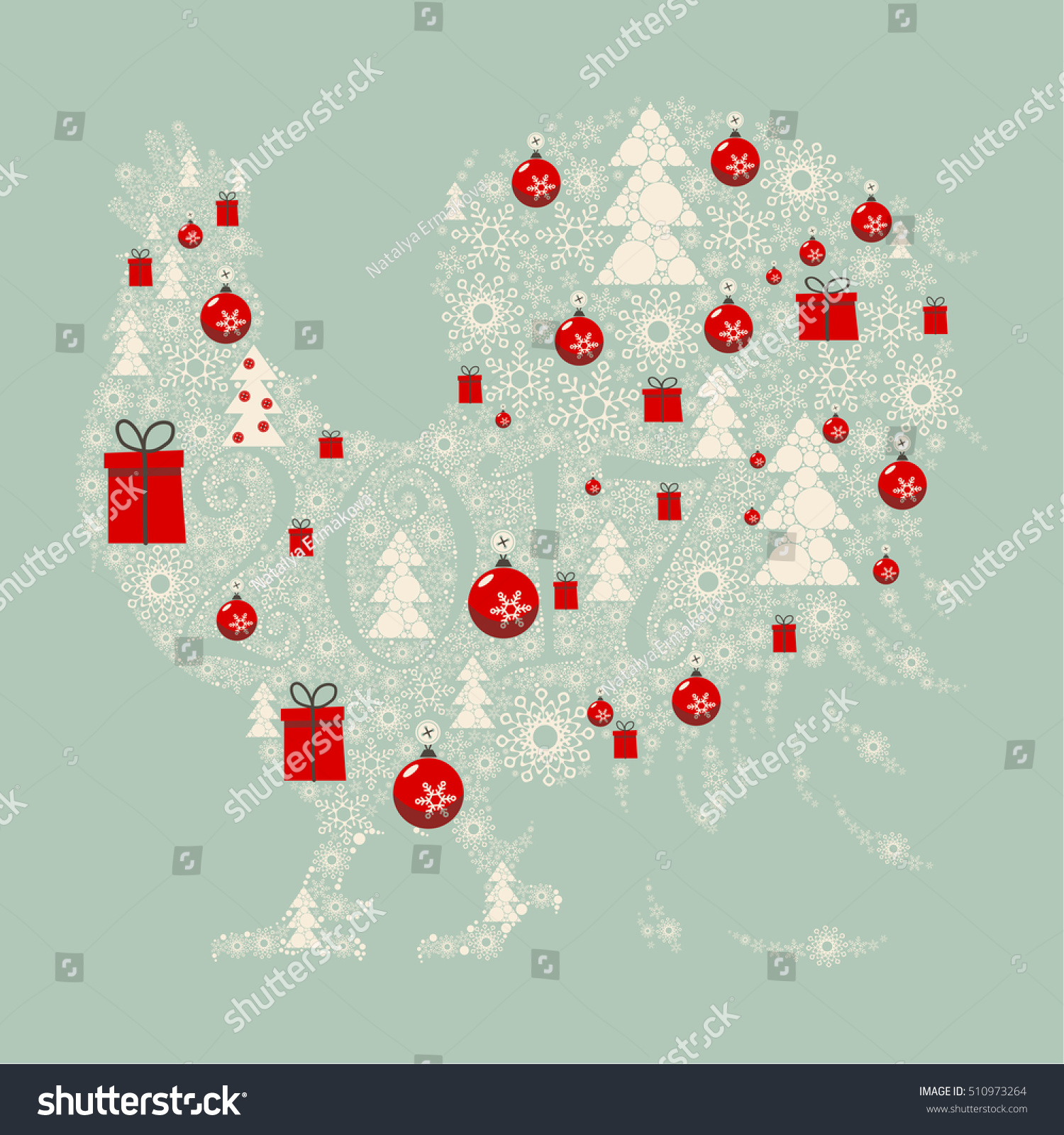 Design Greeting Cards New Year Christmas Stock Vector 510973264