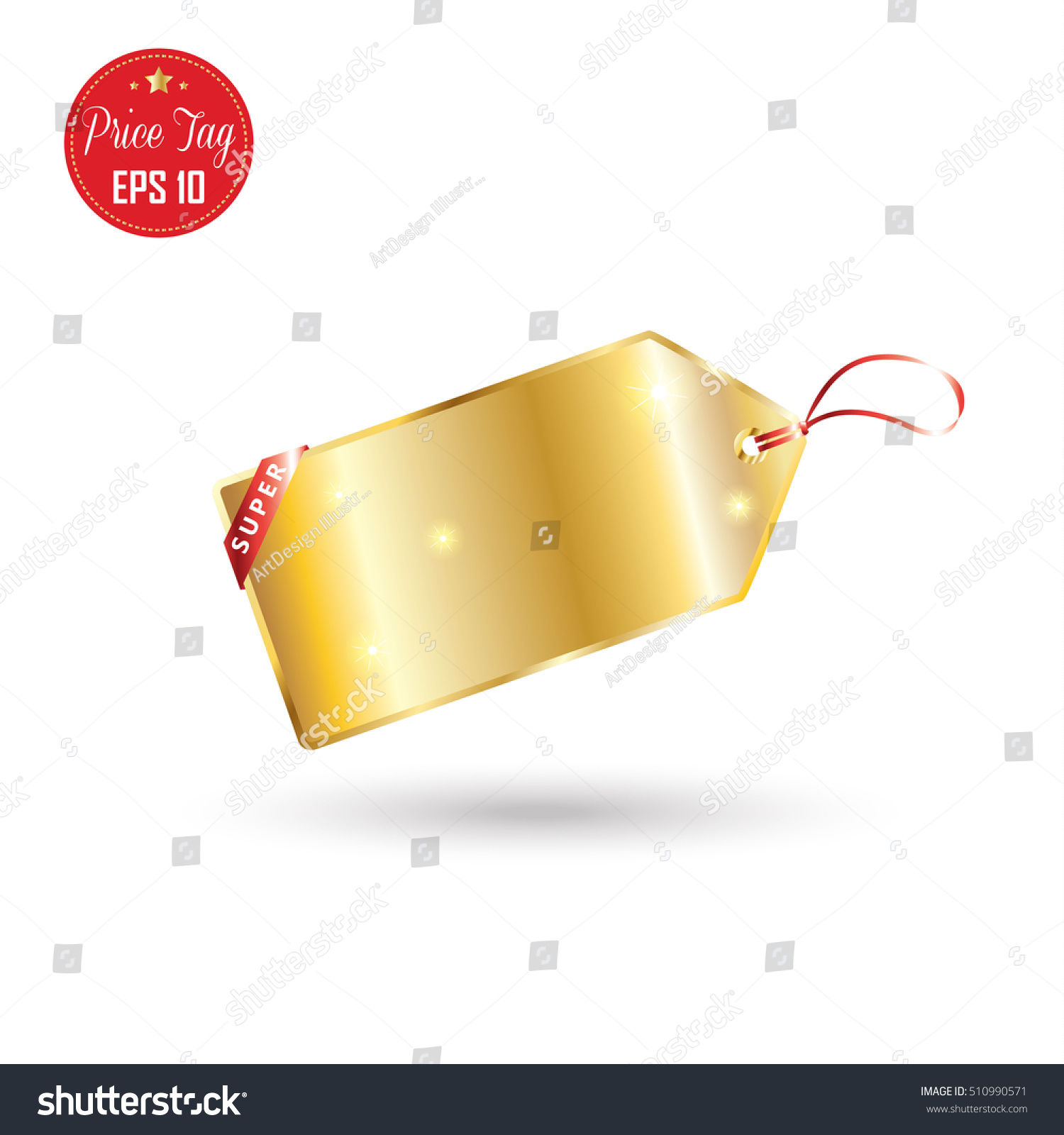 Price Tag Price Tags Label Gold Stock Vector Royalty Free