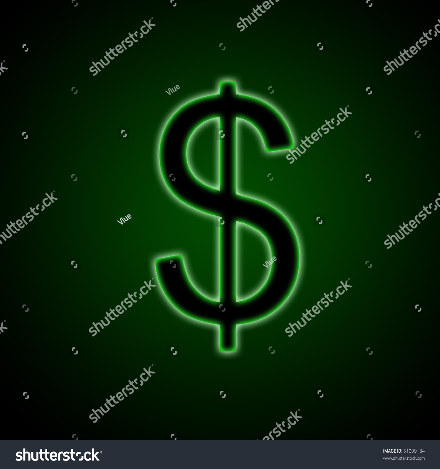 Abstract computer generated background illustration american stock abstract computer generated background illustration of the american dollar symbol sign on a green background biocorpaavc