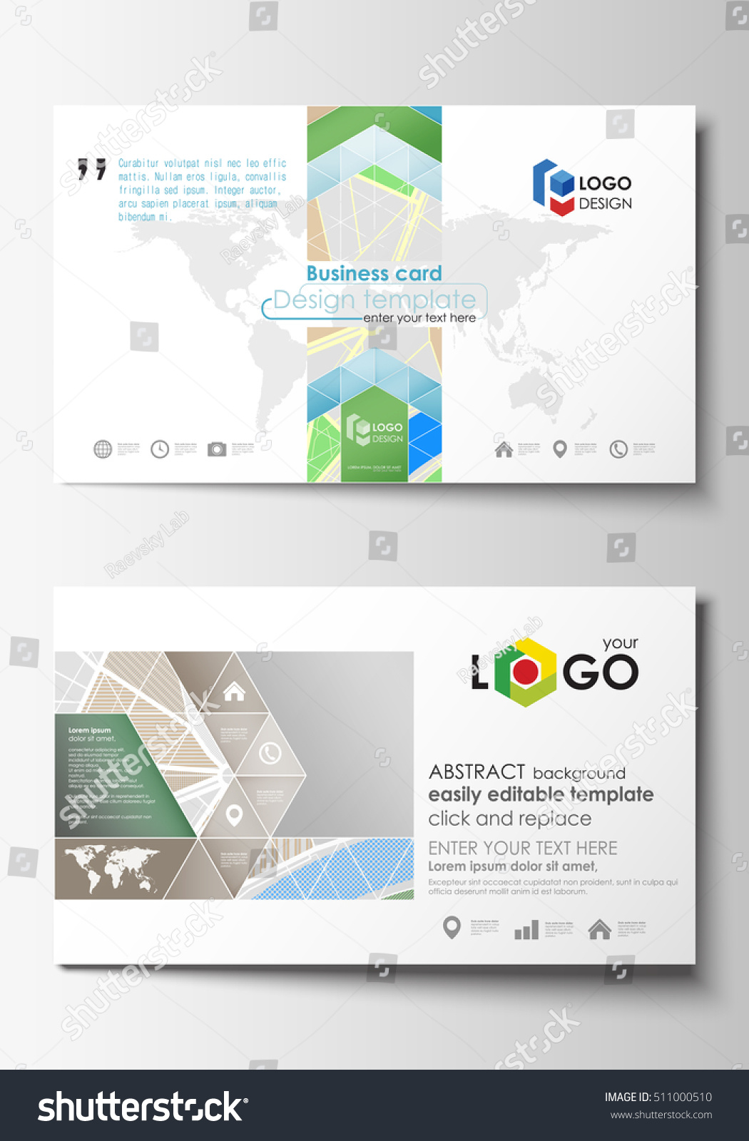 Business Card Map Choice Image - Free Business Cards