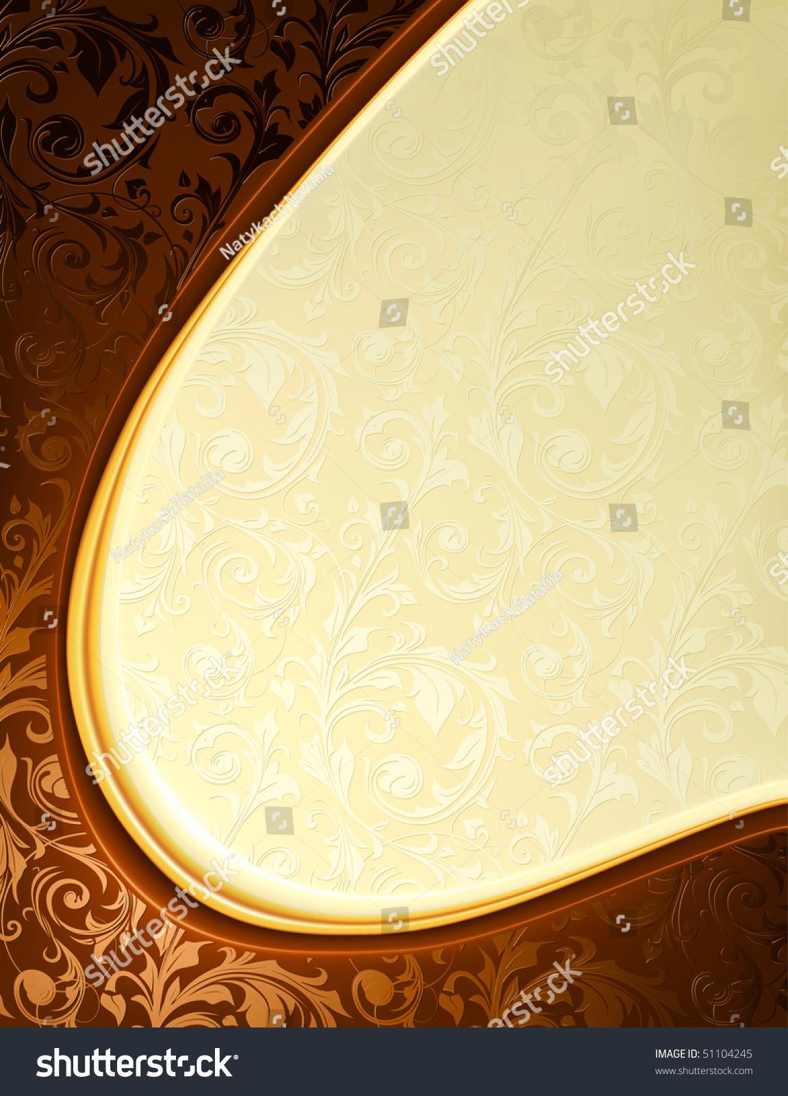 Luxury Yellow Brown Background Vector Stock Vector
