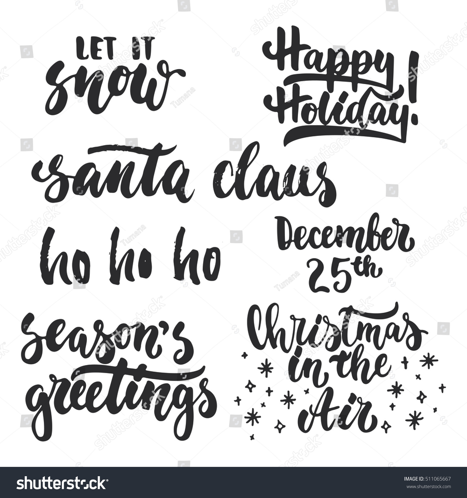 Royalty-free Lettering Christmas and New Year… #511065667 Stock ...