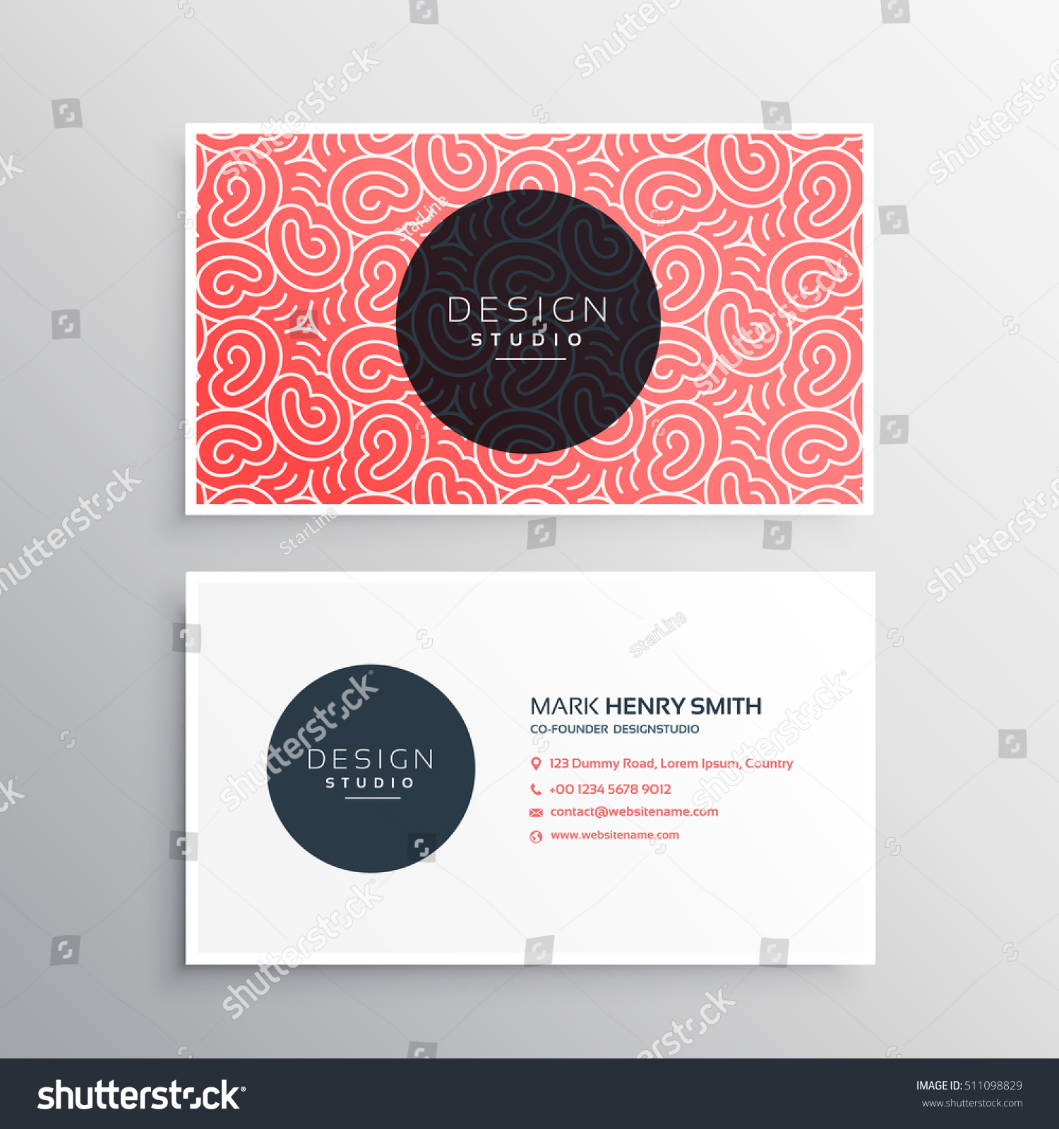 Abstract Minimal Business Card Template Organic Stock Vector ...