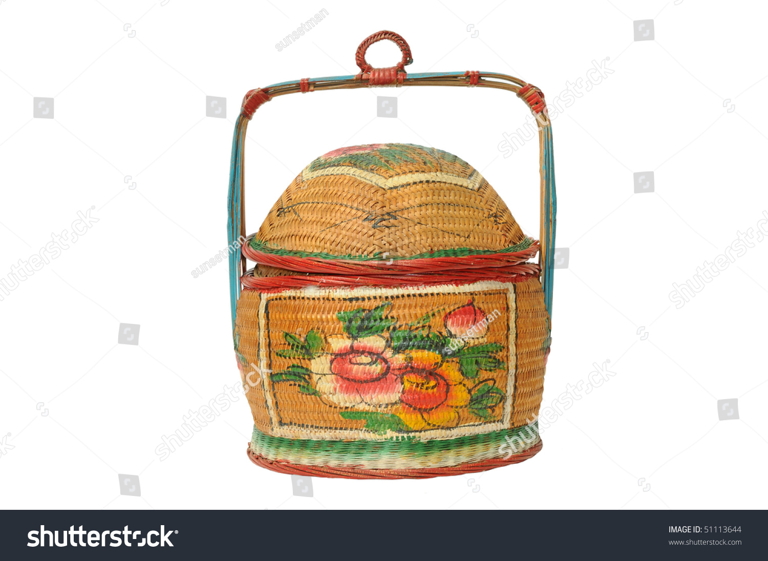 Traditional chinese marriage bamboo basket stock photo 51113644