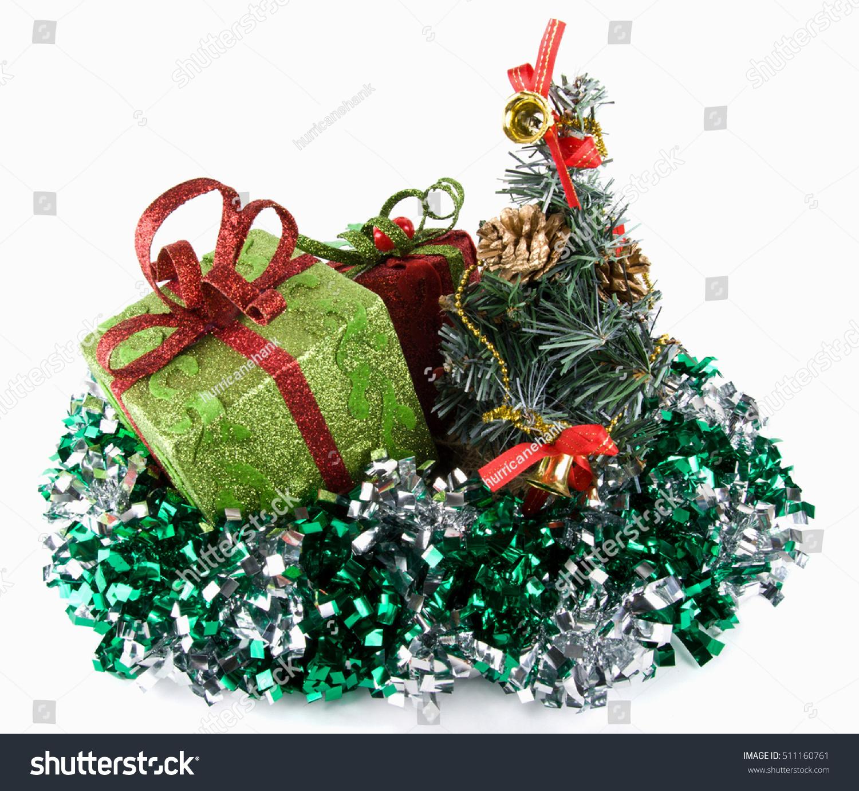 Fir treespangletoy packagessparkling christmas gift box stock sparkling christmas gift box isolatedwhite background biocorpaavc