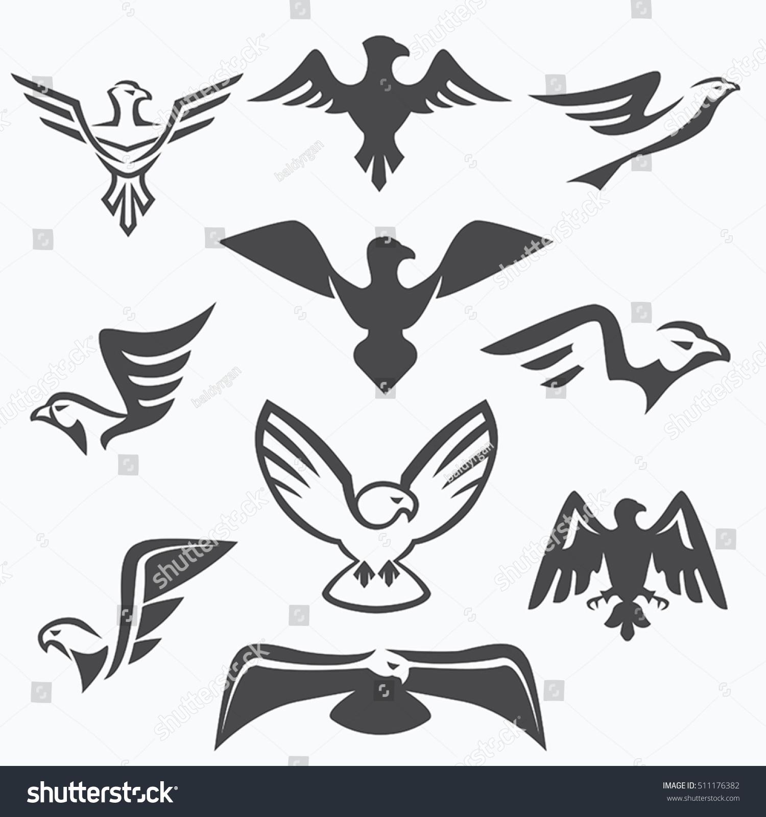 Set eagle symbols logo design stock vector 511176382 shutterstock set of eagle symbols for logo design biocorpaavc Images