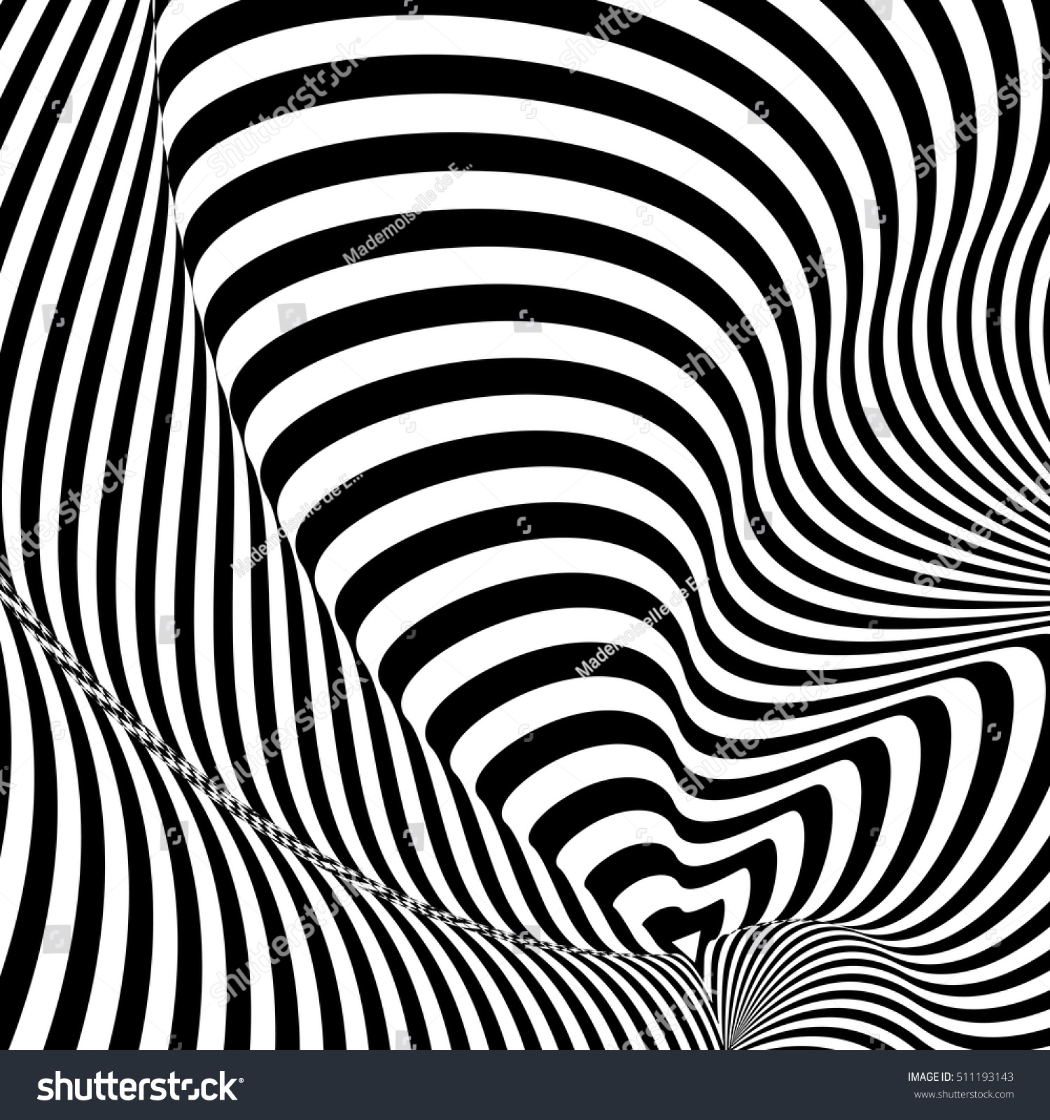 Pattern Black White Lines Optical Illusion 511193143
