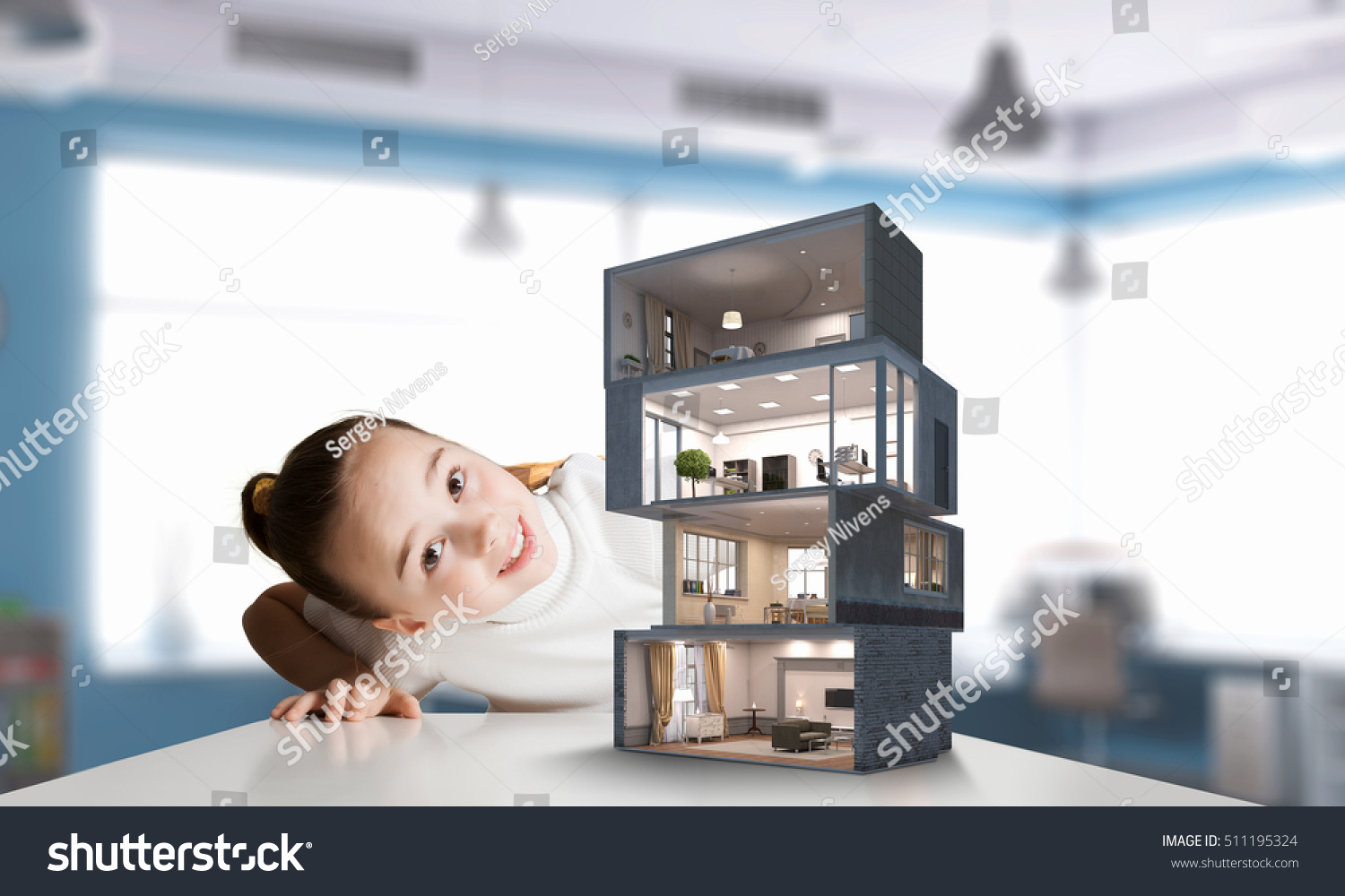 Design Your Dream House Mixed Media Stock Photo (Royalty Free ...
