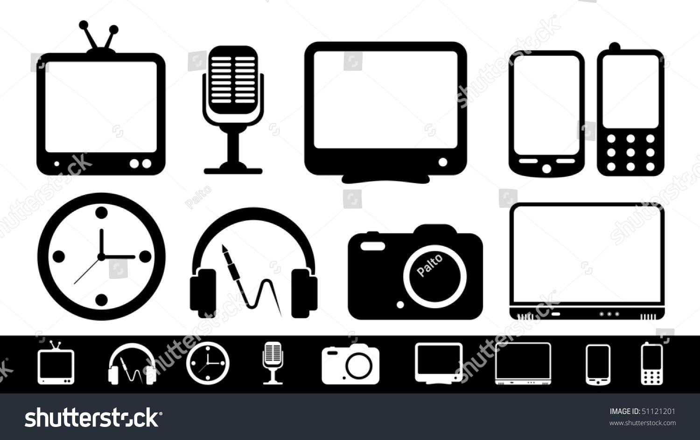 Icon Electronics Srinagar: Electronics Icon Set Stock Vector Illustration 51121201