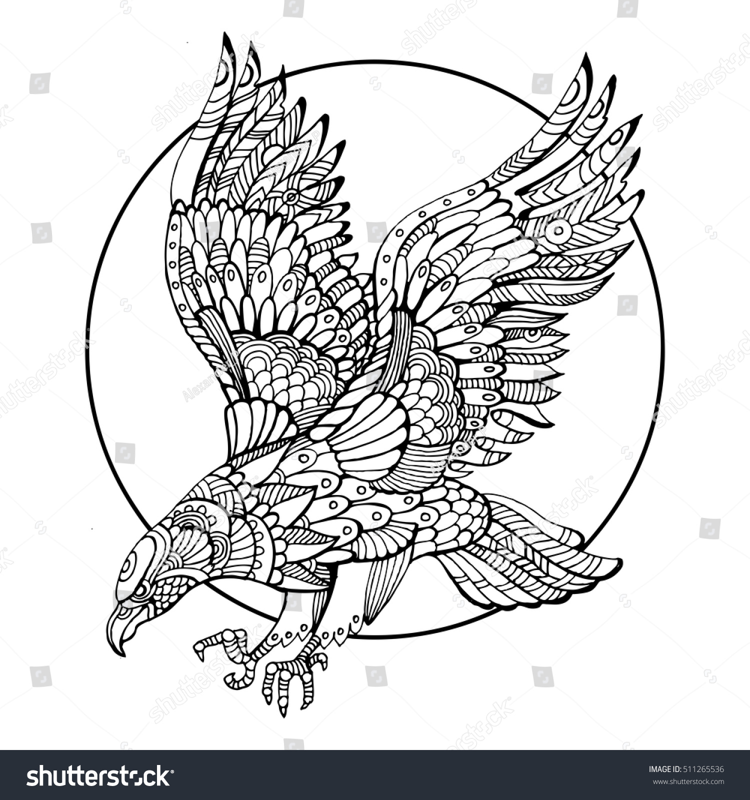 Stress relief coloring books disney - Ad Adult Disney Coloring Books Eagle Bird Coloring Book Adults Vector Stock Vector 511265536