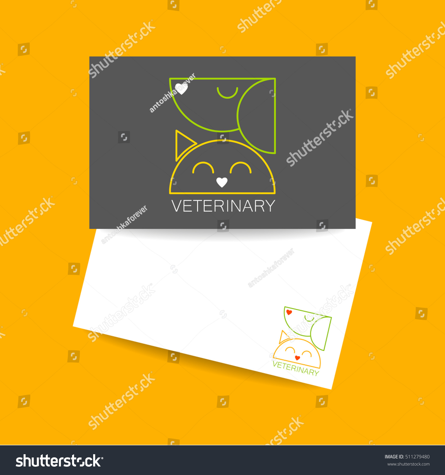 Veterinary Clinic Business Card Template Idea Stock Vector 511279480 ...