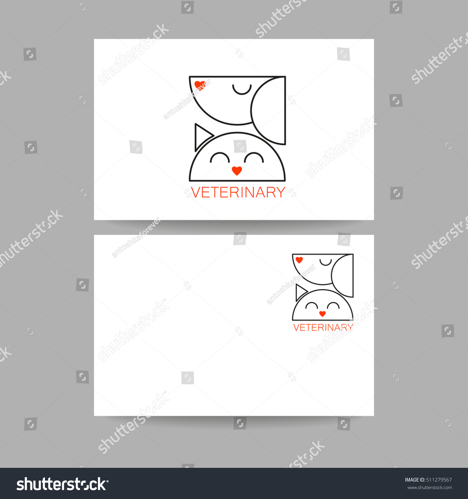 Veterinary Clinic Business Card Template Idea Stock Vector HD ...