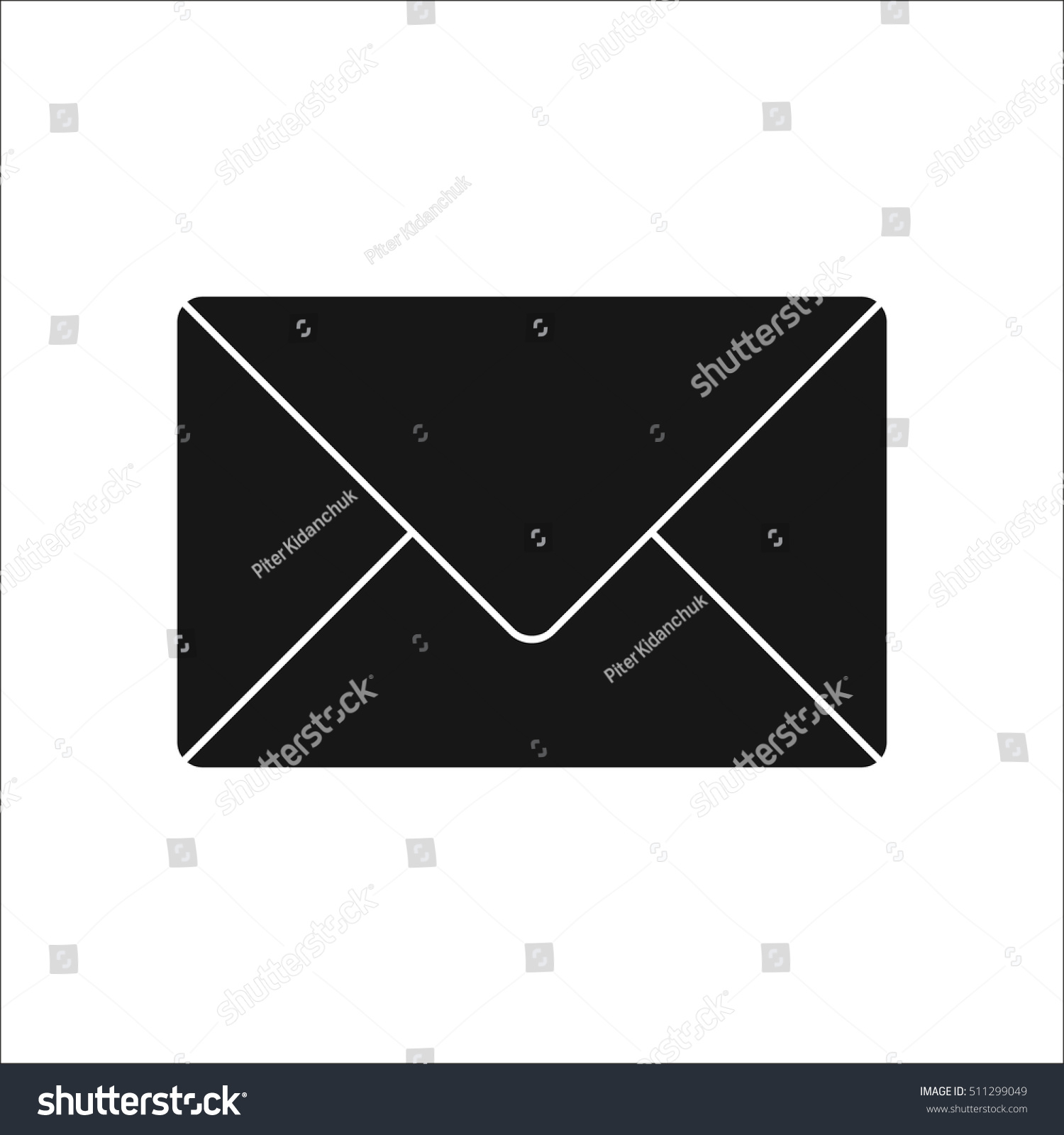 Letter Sms Message Symbol Sign Silhouette Stock Vector Royalty Free