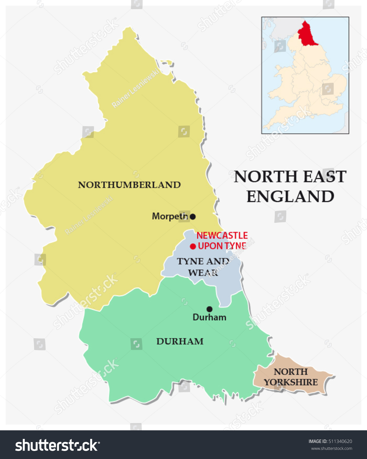 North east england administrative political map vector de north east england administrative political map vector de stock511340620 shutterstock gumiabroncs Choice Image