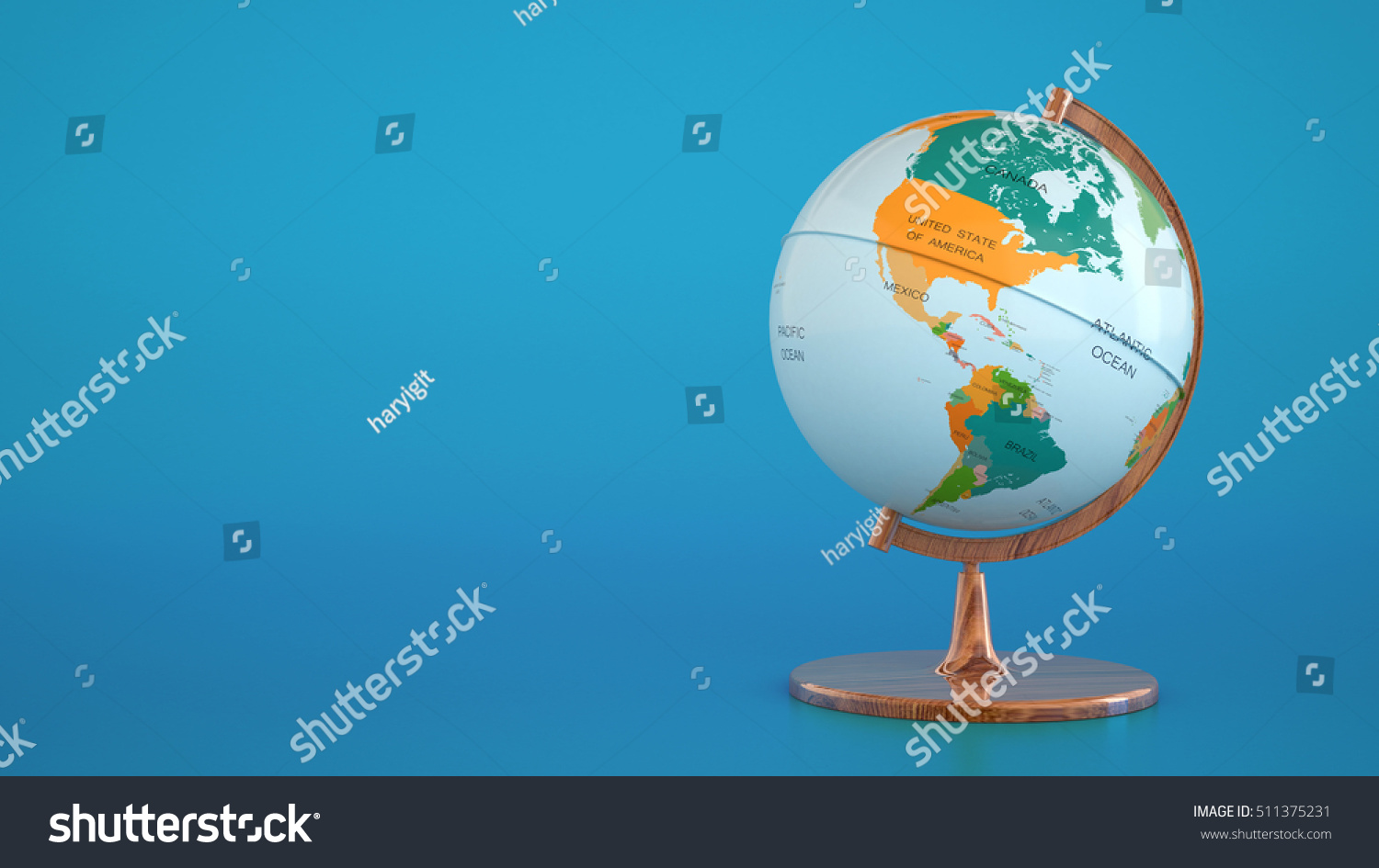 Globe geographical map on blue backgroundworld stock illustration globe with geographical map on blue background globe indicating america canada and brazil gumiabroncs Images