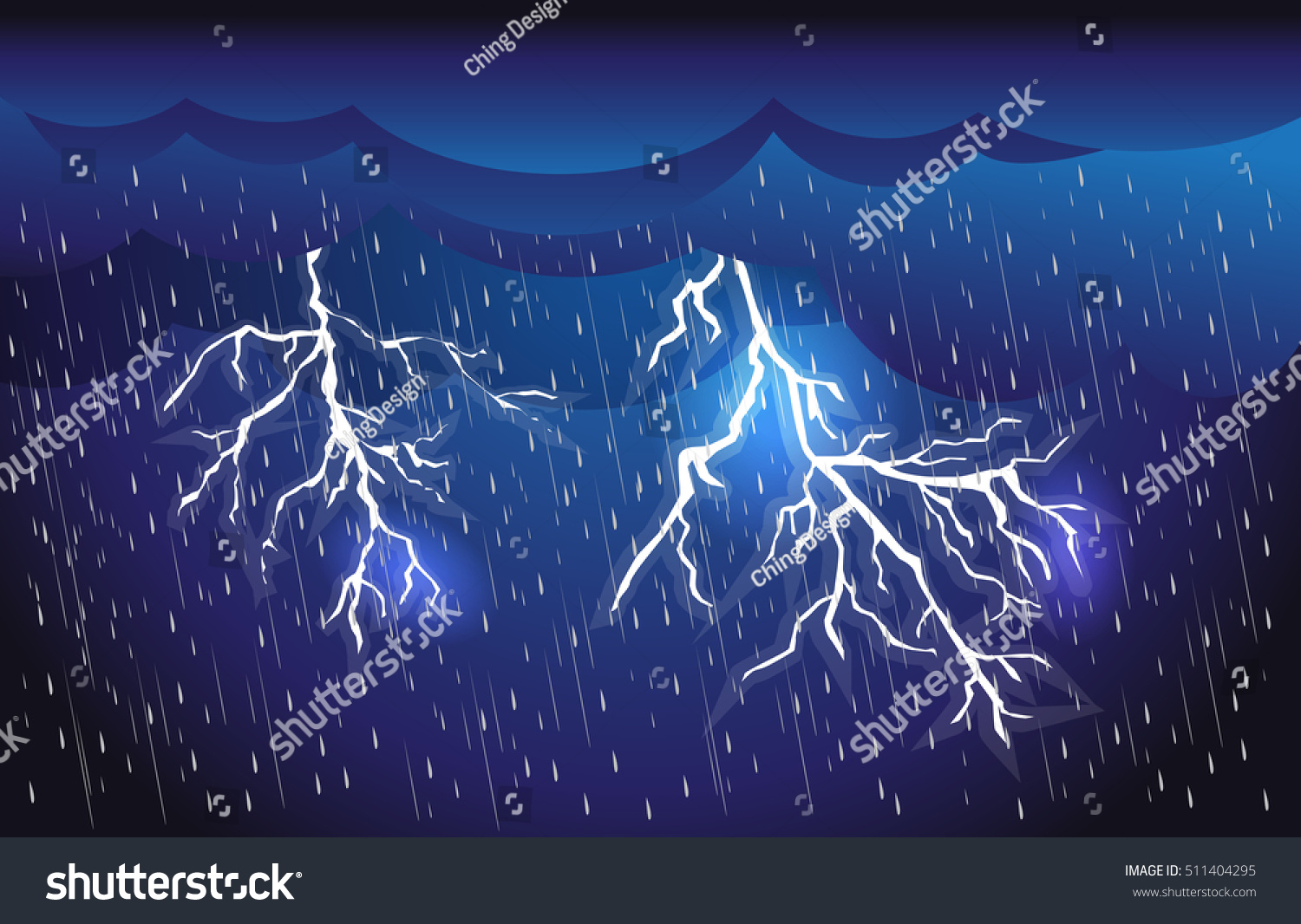 Lightning Storm Clouds And