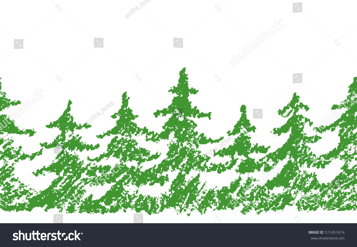 Crayon Childs Drawing Merry Christmas Tree Stock Vector HD (Royalty ...