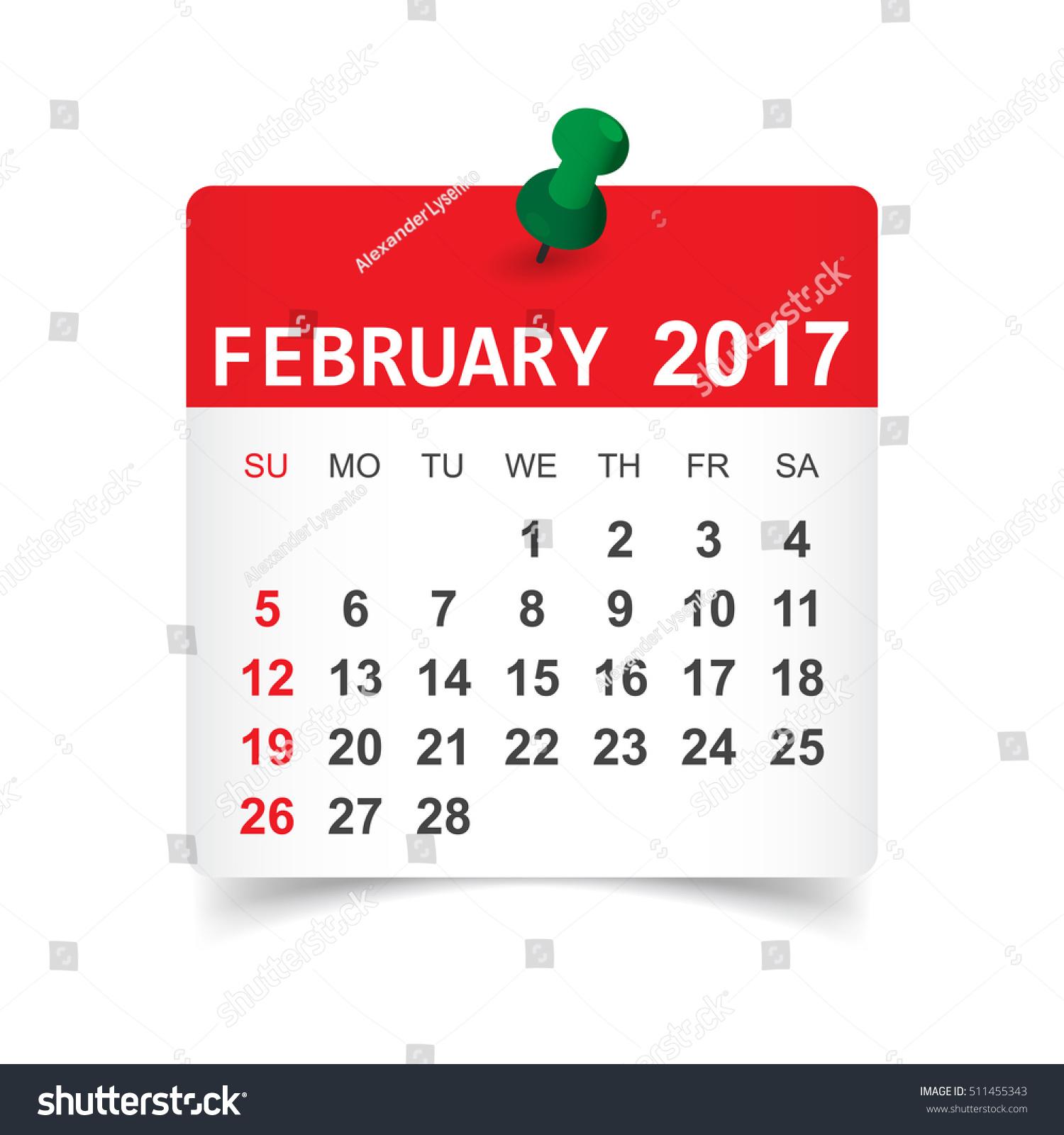 February Calendar Illustration : February calendar vector illustration stock