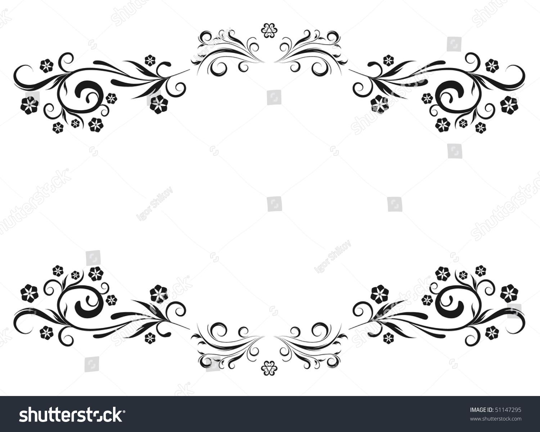 Vector Floral Template Stock Vector 51147295 - Shutterstock