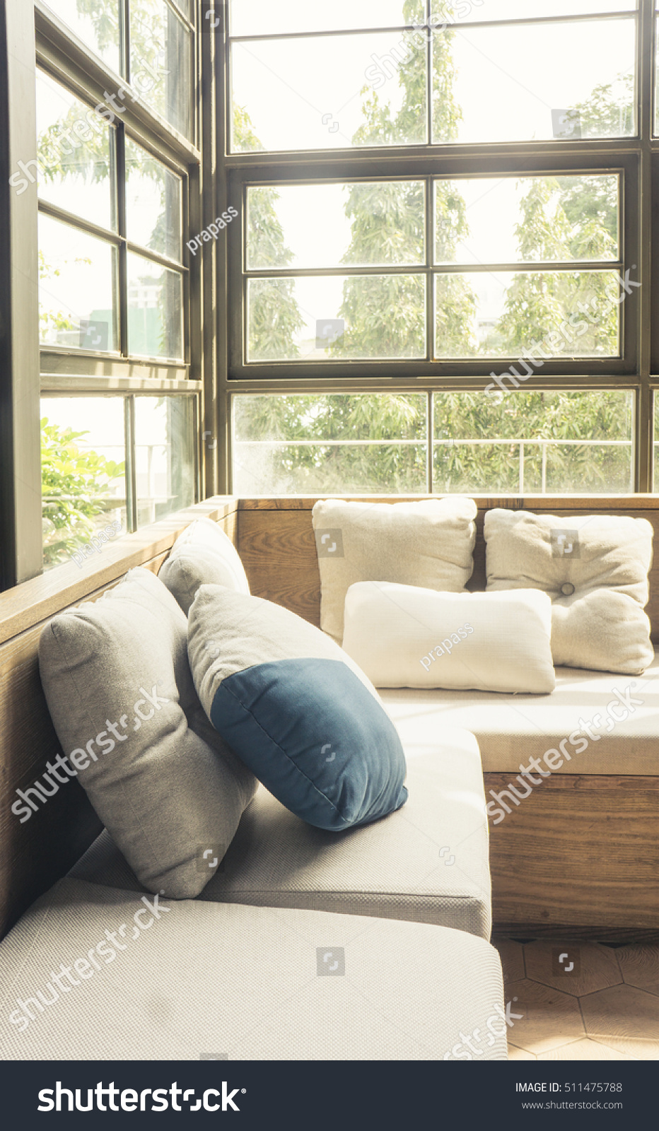 Cozy Modern Living Room Sofa Couch Stock Photo (Royalty Free ...