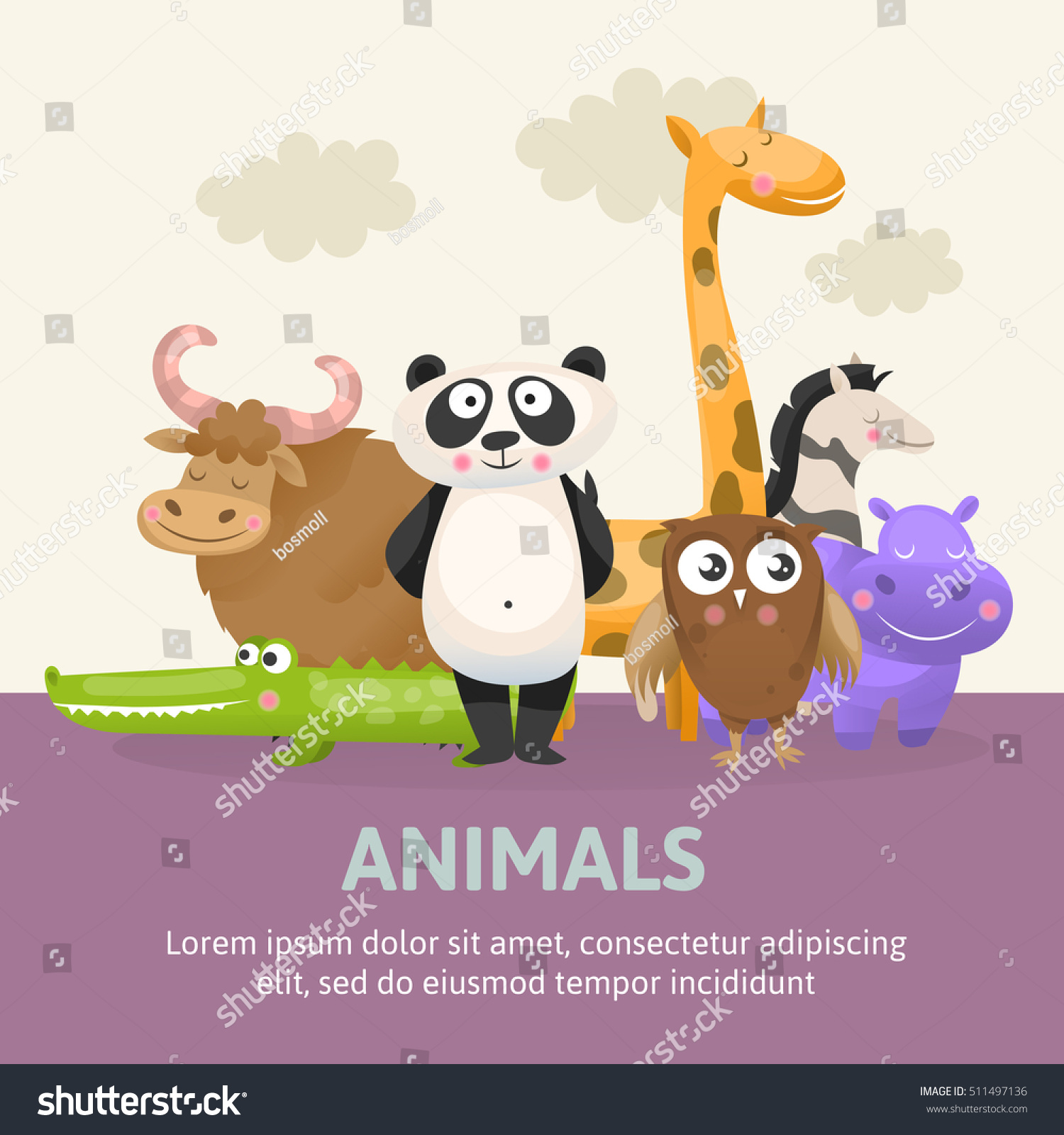 Zoo poster design - Poster With Zoo Animals Vector