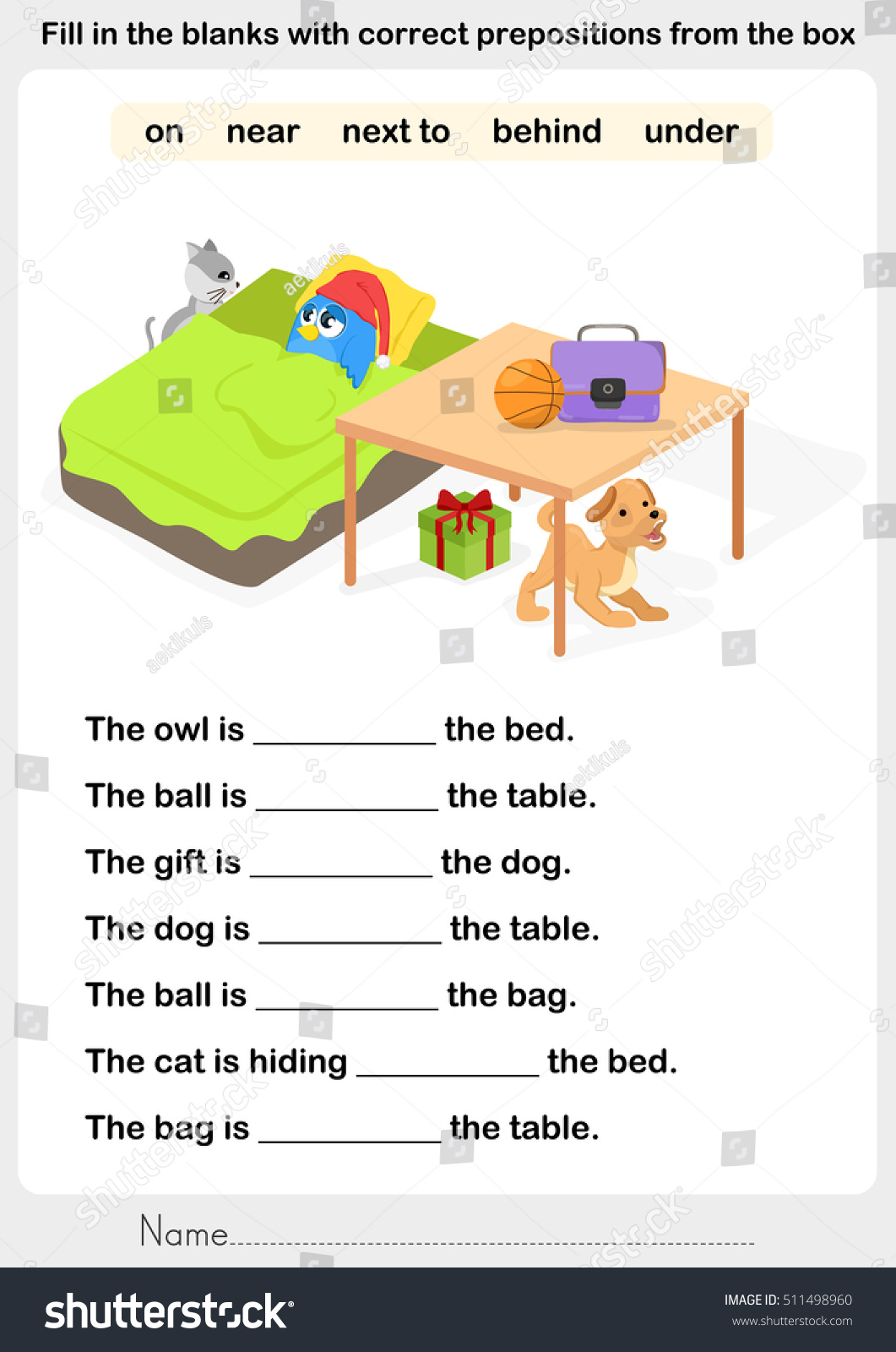 100 Prepositions Worksheets With Answers – Preposition Worksheets