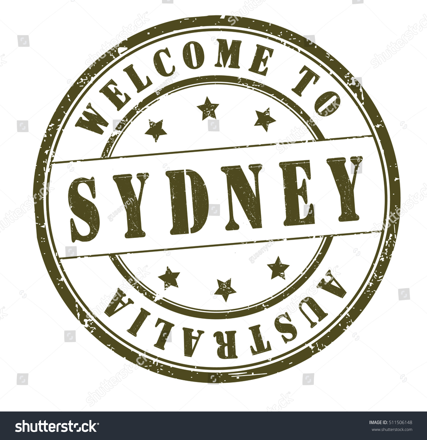 Rubber stamp text welcome sydney australia stock vector 511506148 rubber stamp with text welcome to sydney australia on white vector illustration buycottarizona Gallery
