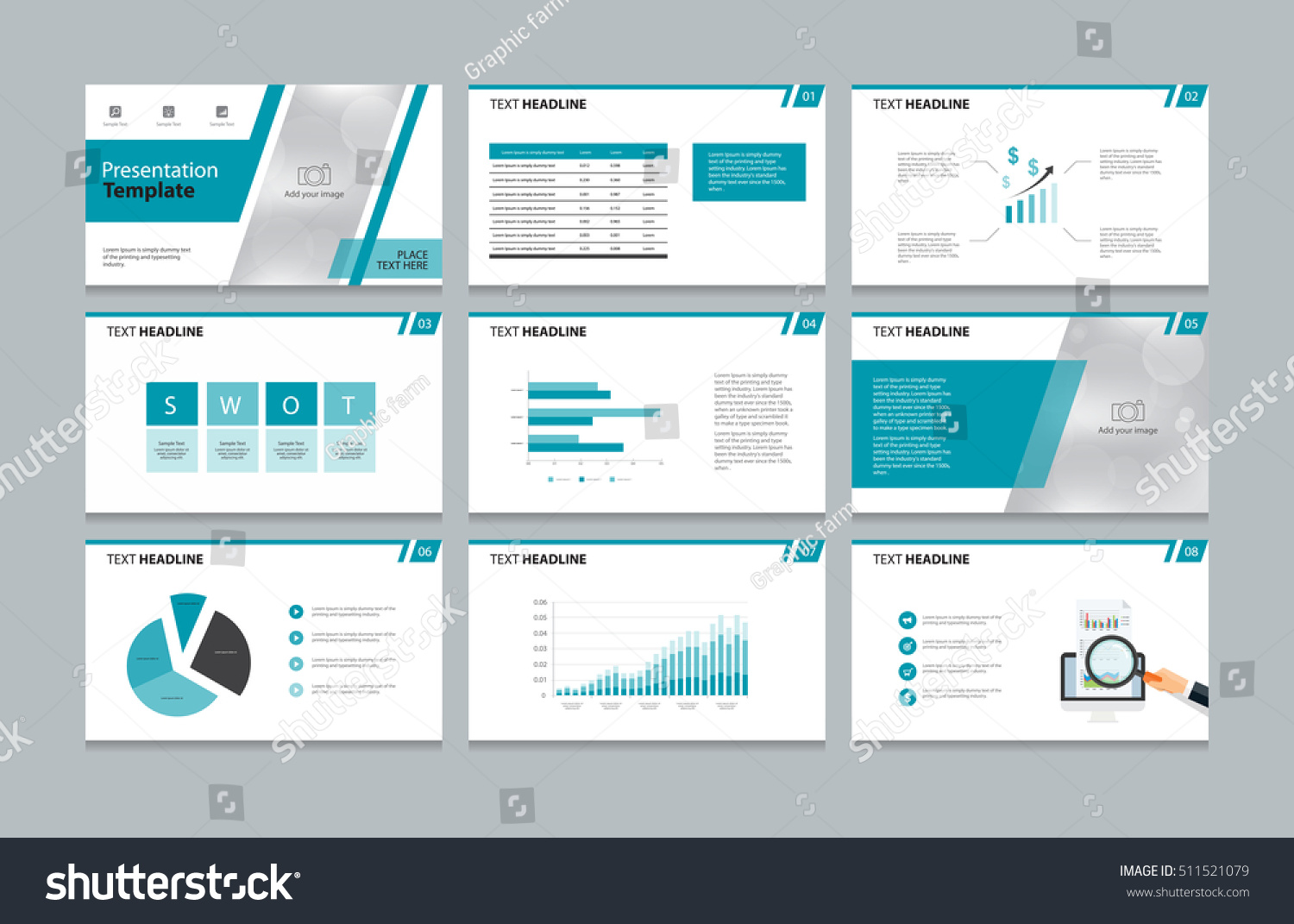 page layout design presentation brochure book stock vector 511521079