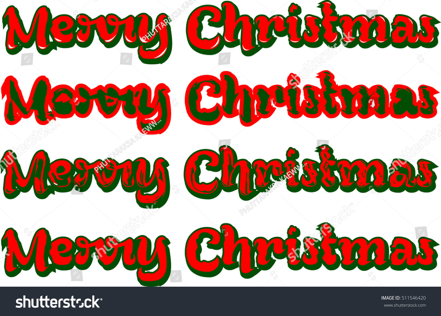 Merry Christmas Word Art Design The Arts Abstract Stock Image