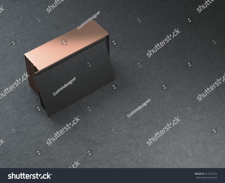 Black Gold Business Cards Stack Mockup Stock Illustration 511627765 ...