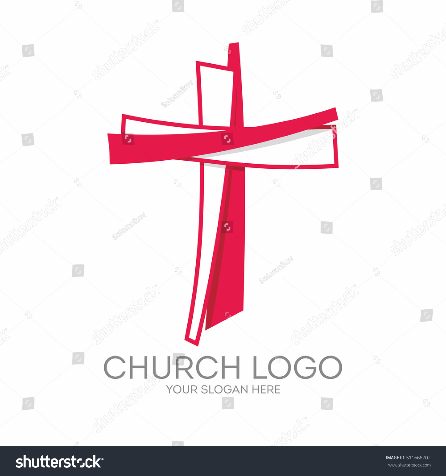 Church logo christian symbols cross jesus stock vector 511666702 christian symbols the cross of jesus christ biocorpaavc Image collections