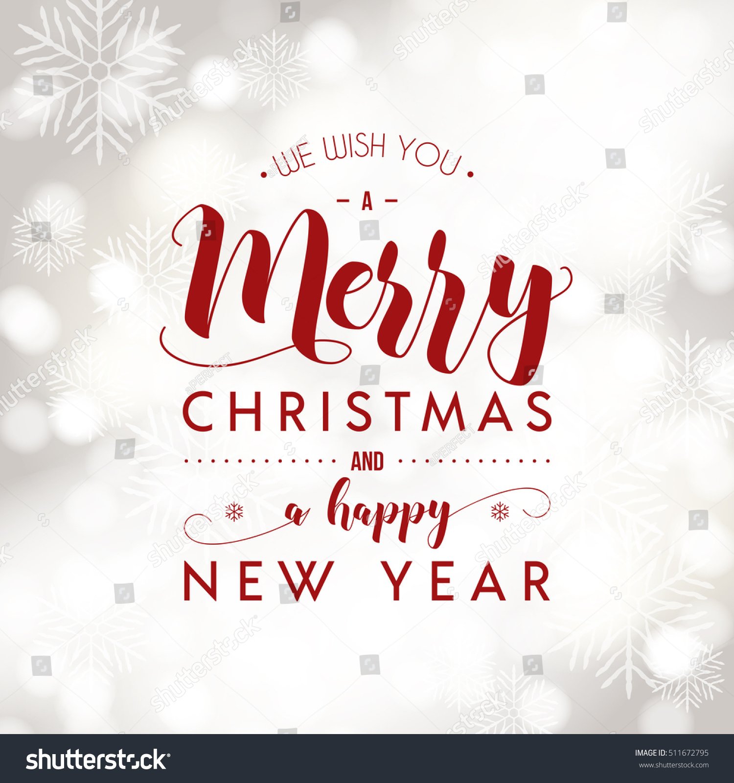 Merry christmas happy new year greeting stock vector 511672795 merry christmas and happy new year greeting card modern calligraphy lettering typographic vector design kristyandbryce Choice Image