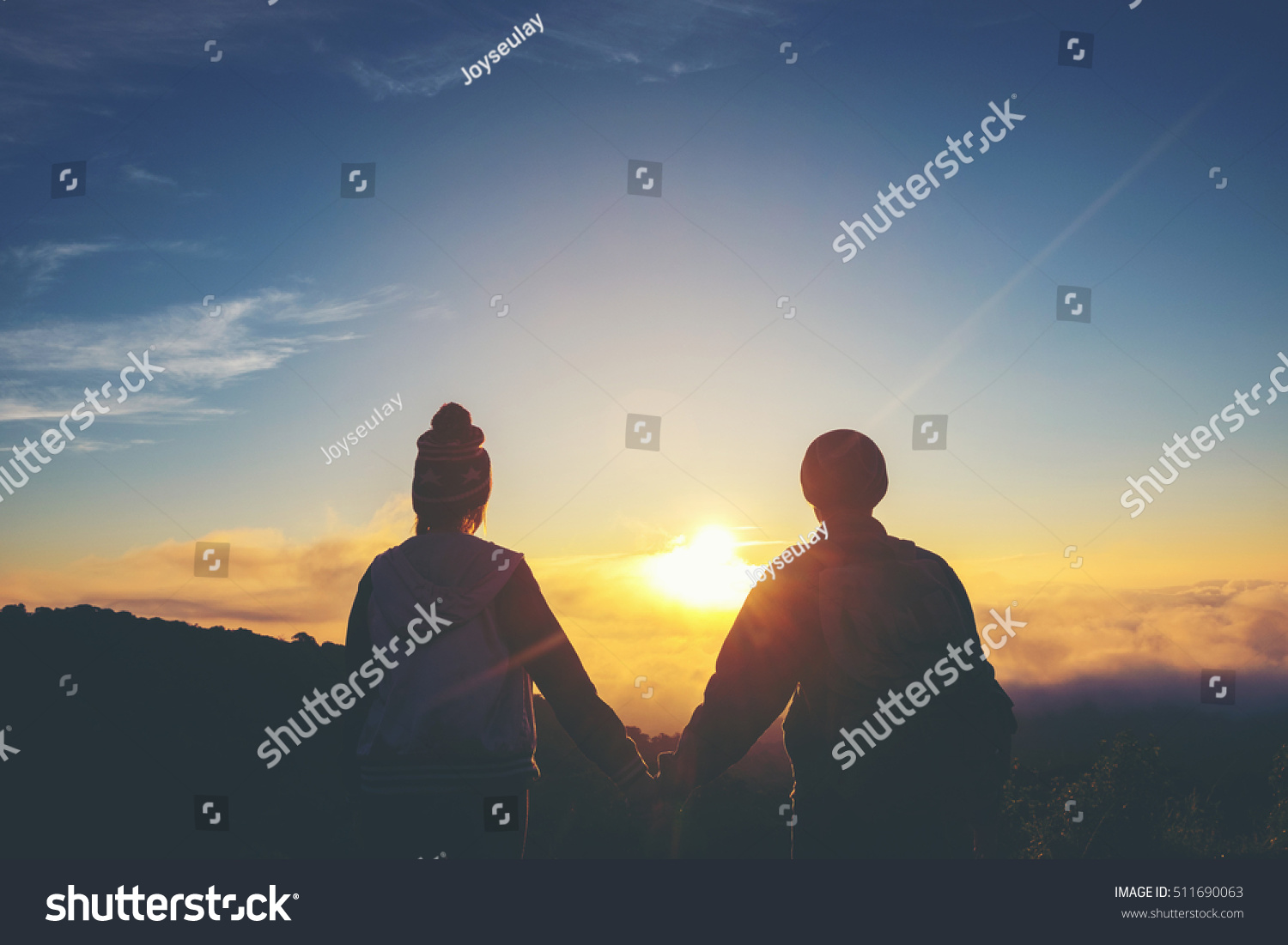 Silhouette Couple Holding Hands Sunset Stock Photo 511690063 ... for Couple Holding Hands Silhouette Sunset  183qdu