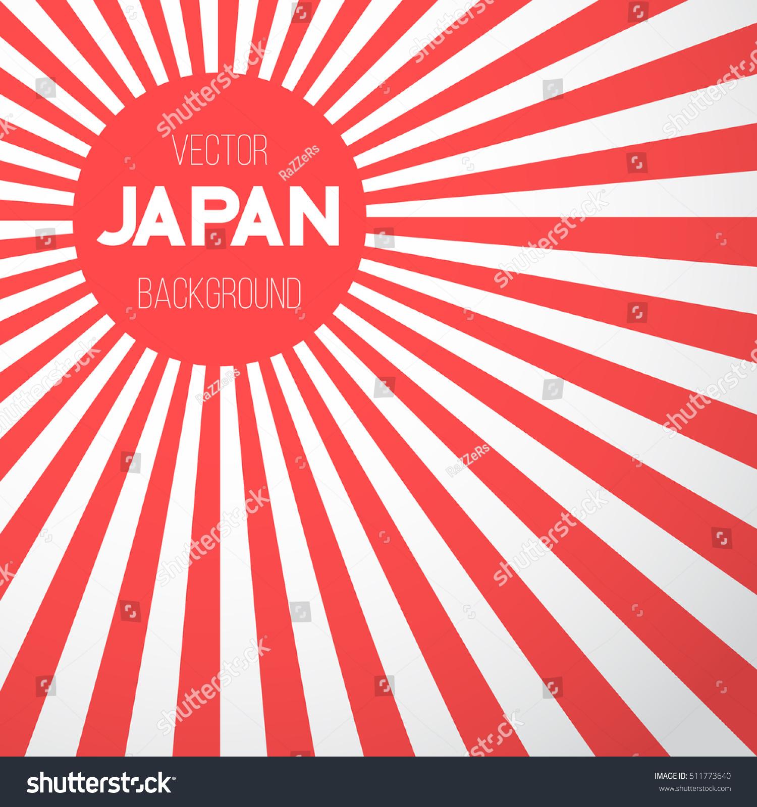 illustration japan flag vector background retro stock vector, Powerpoint templates