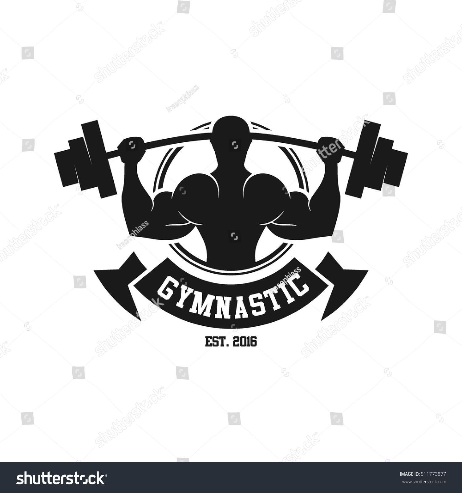 Royalty-free Gym logo, fitness logo #511773877 Stock Photo ... for Gym Logo Pictures  110ylc