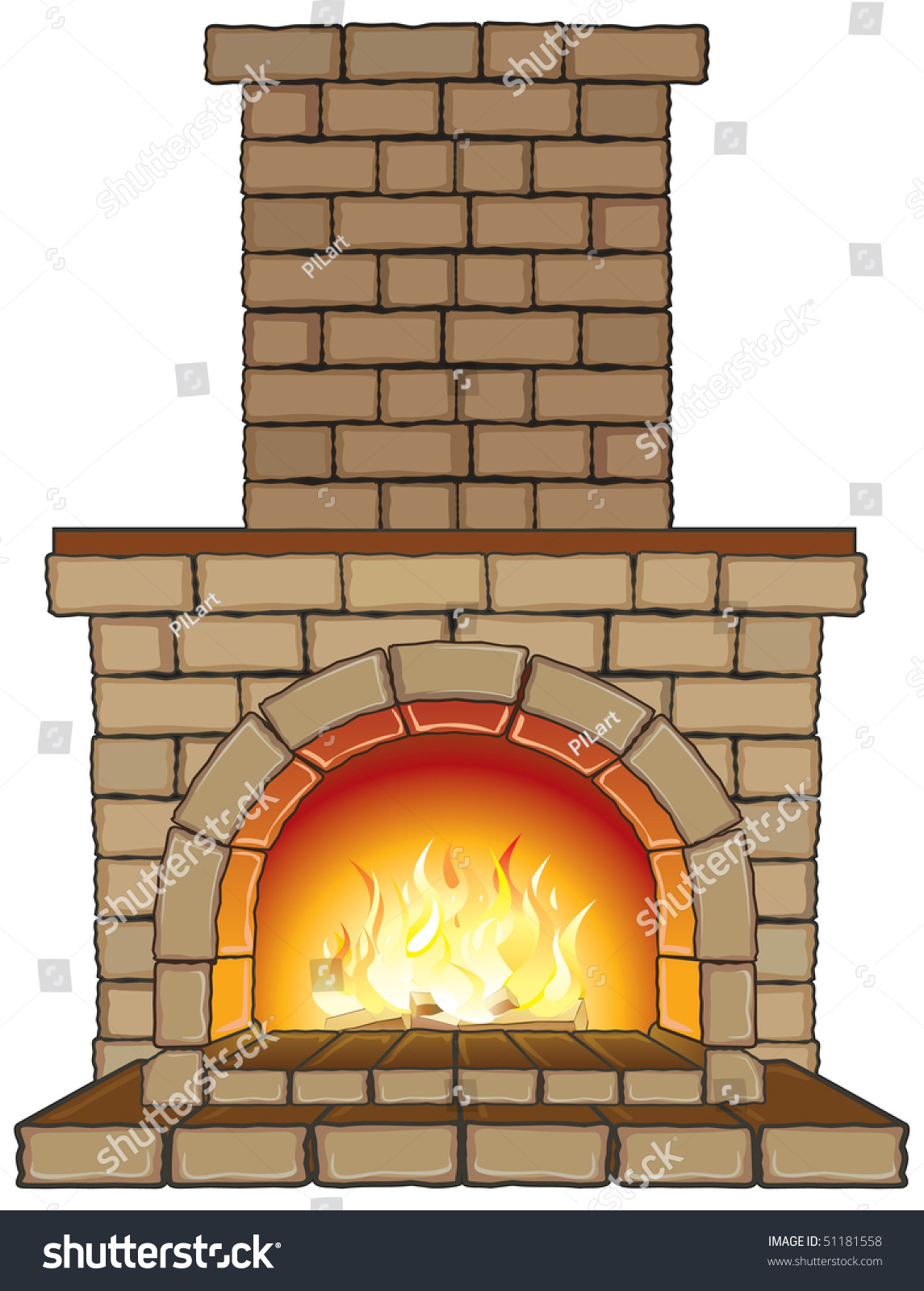 clipart fireplace fire - photo #23