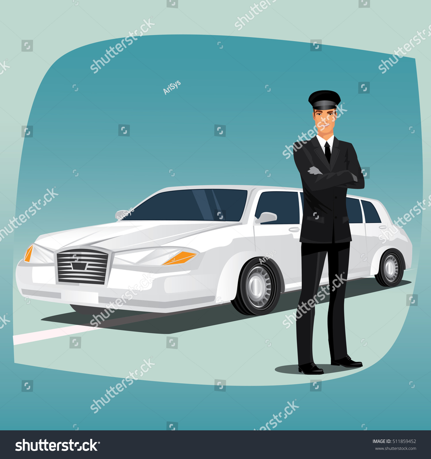 Black gloves lincoln - Chauffeur Driver Of Luxury Car Such As Limousine Or Lincoln Standing Dressed
