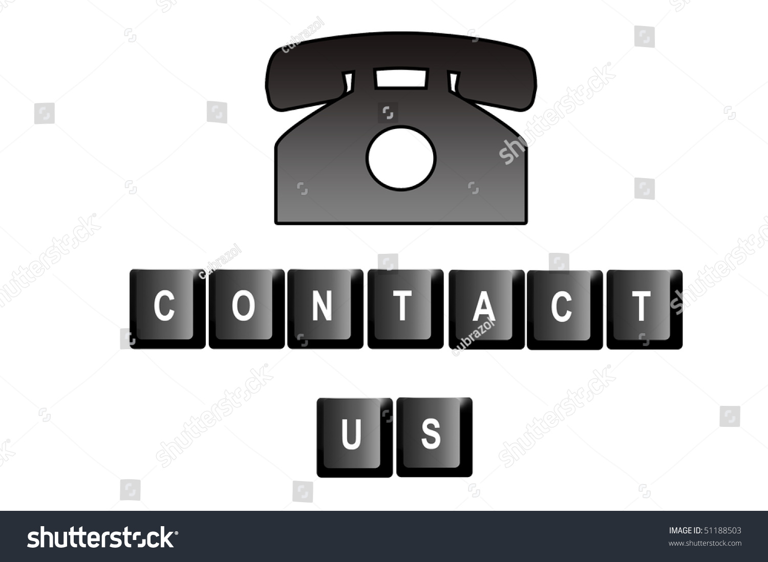 Contact us written computer keyboard letters stock illustration contact us written with computer keyboard letters and a symbol of a telephone biocorpaavc